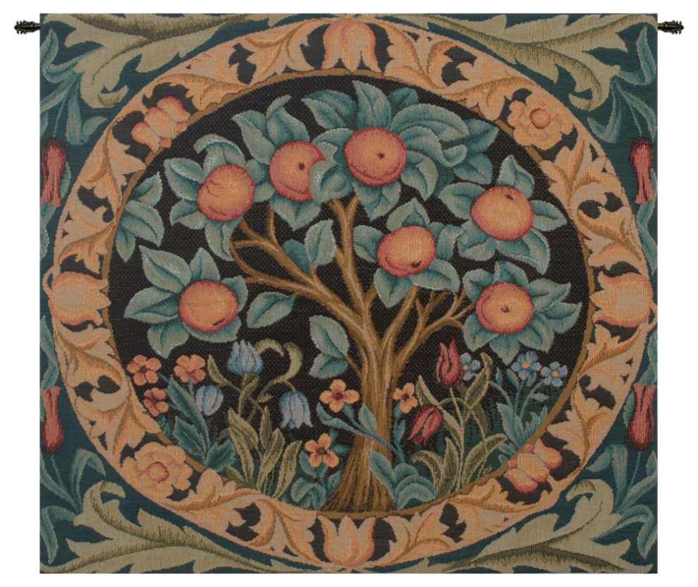 Preferred The Orange Tree European Tapestry Wall Hanging For Blended Fabric Pastel Tree Of Life Wall Hangings (View 19 of 20)