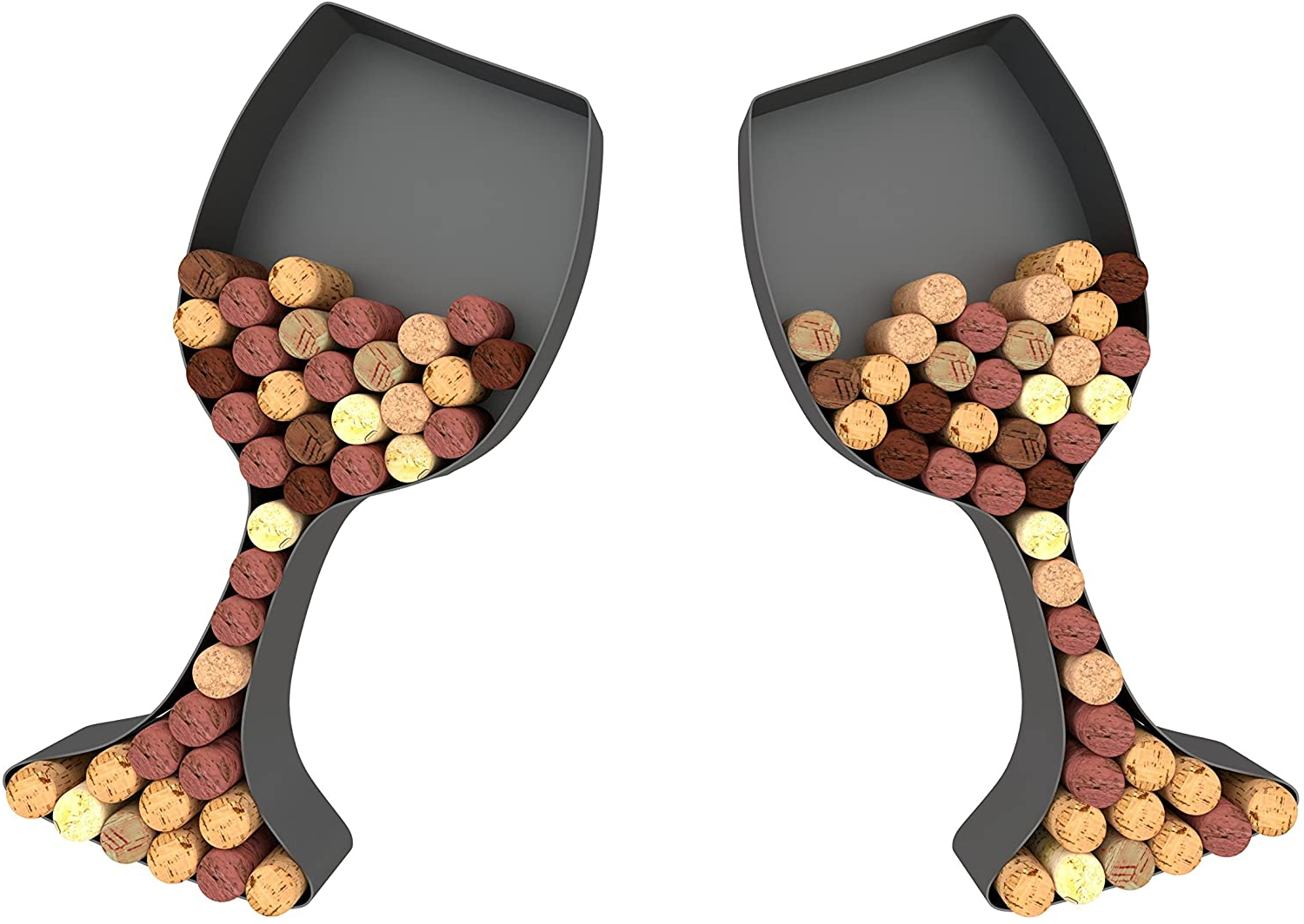 """Preferred Wine Glass Cork Holder Art Wall Décor ~ Metal ~ Set Of 2 ~ Gifts For Wine Lovers ~housevines In 4 Piece """"wine"""" Letter Set Cork Holder Wall Décor Set (View 7 of 20)"""