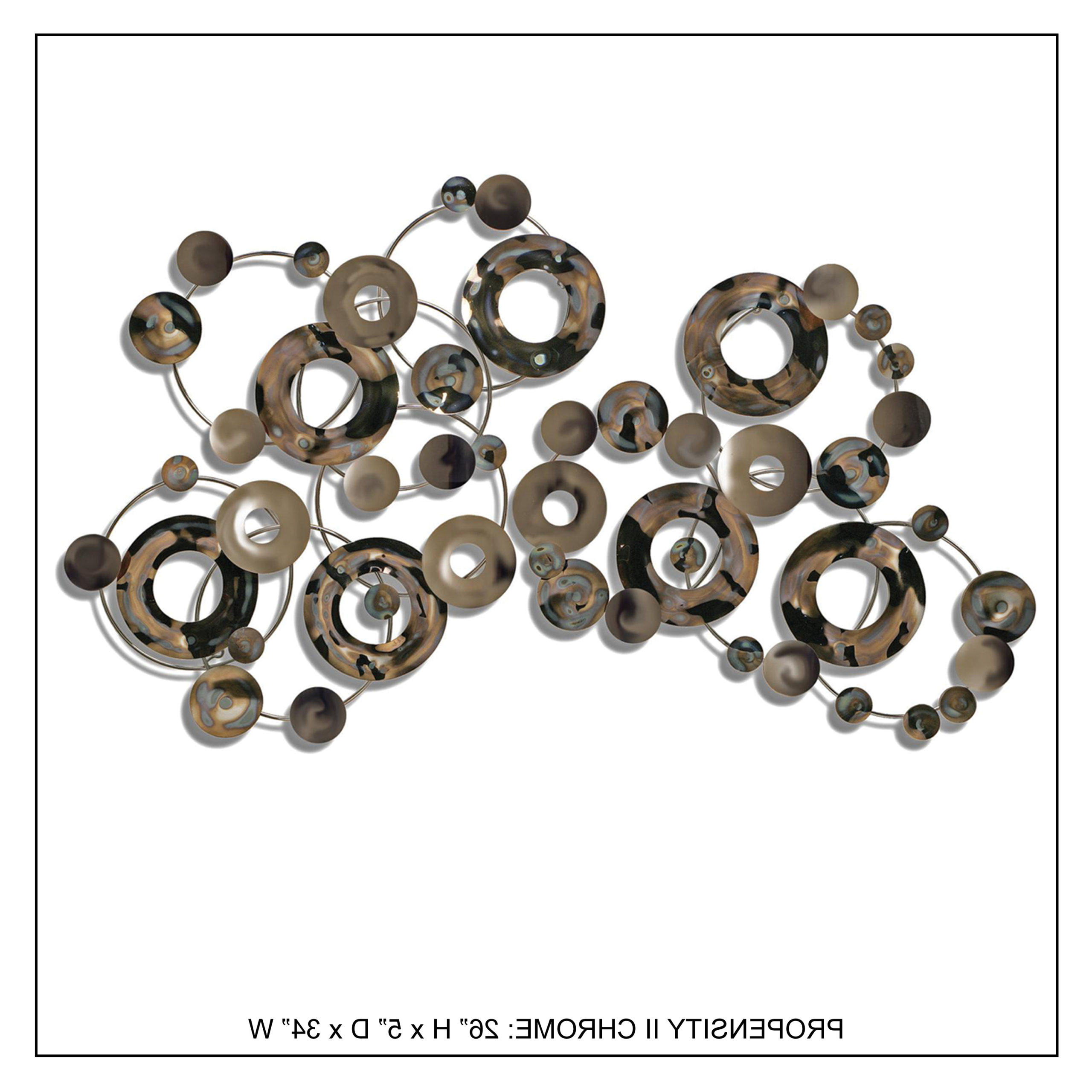 Propensity Ii Chrome – Handcrafted Metal Wall Decor – Innomax Inside Favorite Handcrafted Metal Wall Décor (View 5 of 20)