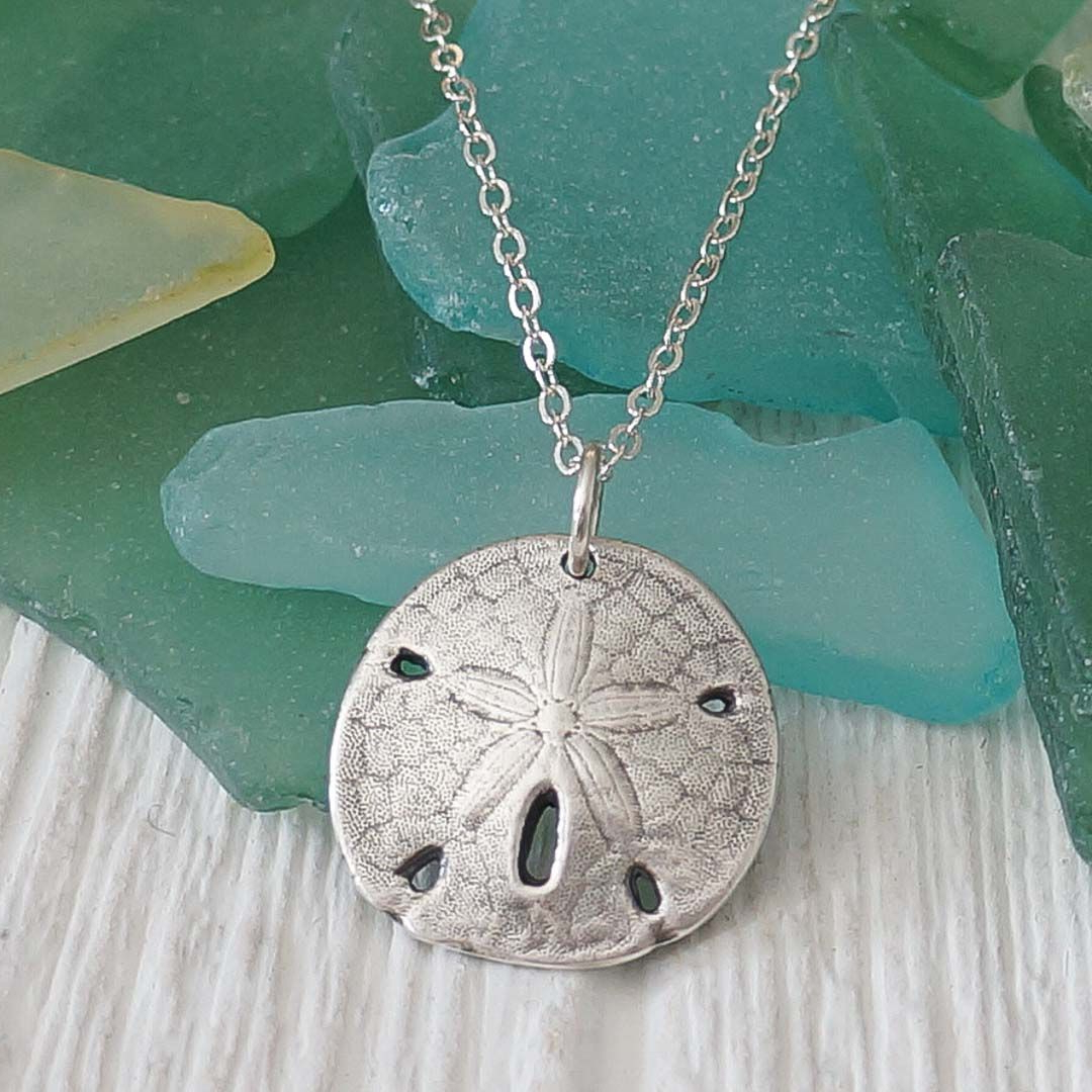 Pure Silver Sand Dollar Necklace (View 9 of 20)