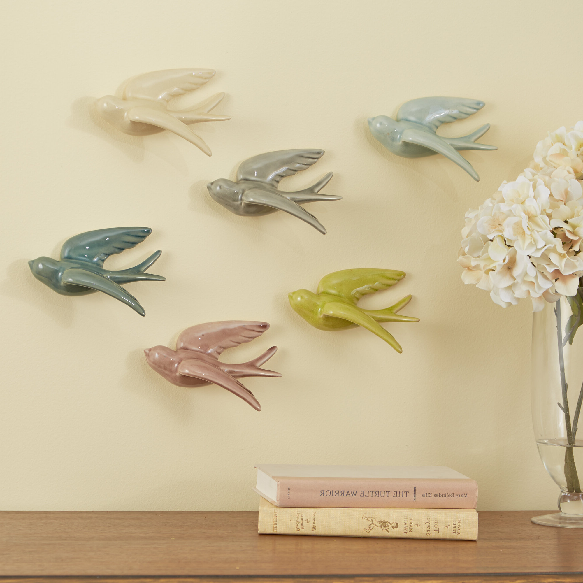 Featured Photo of Swallows Wall Decor (Set Of 6) By Highland Dunes