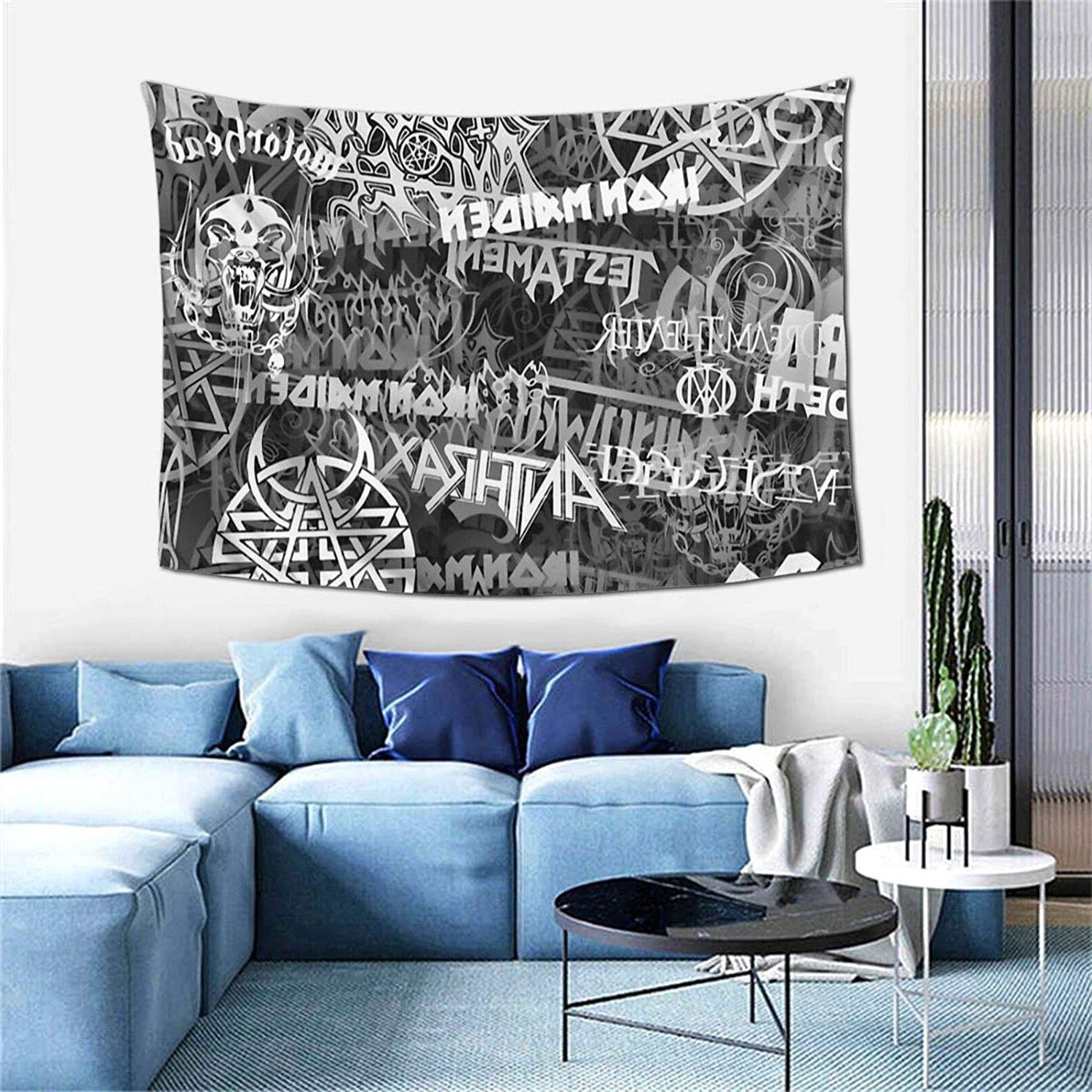 Recent Amazon: Heavy Metal Bands Tapestry Wall Hanging Anime Regarding Blended Fabric Ranier Wall Hangings With Hanging Accessories Included (View 20 of 20)