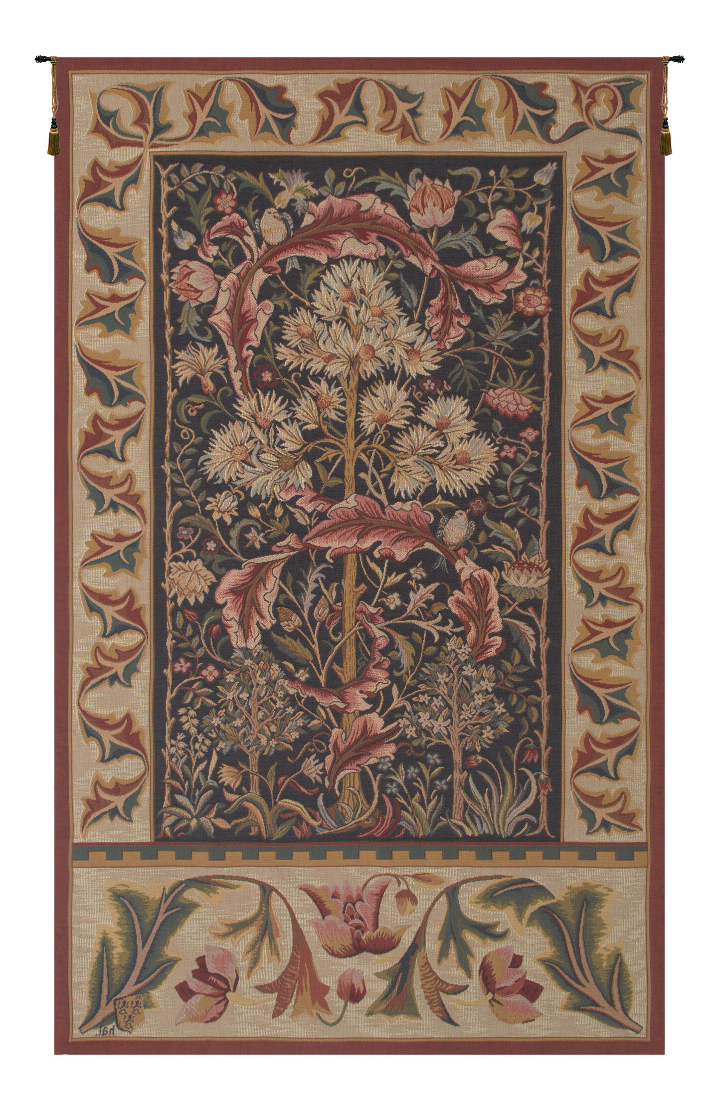 Recent Blended Fabric Acanthus Tapestry Intended For Blended Fabric In His Tapestries And Wall Hangings (View 5 of 20)