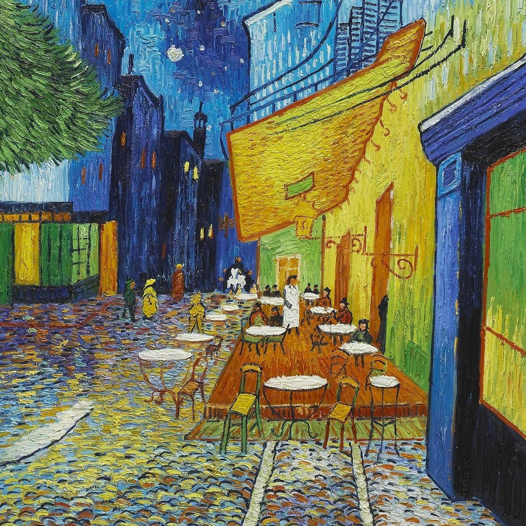 Recent Blended Fabric Van Gogh Terrace Wall Hangings Within Van Gogh Summer Night And French Cafe (View 9 of 20)