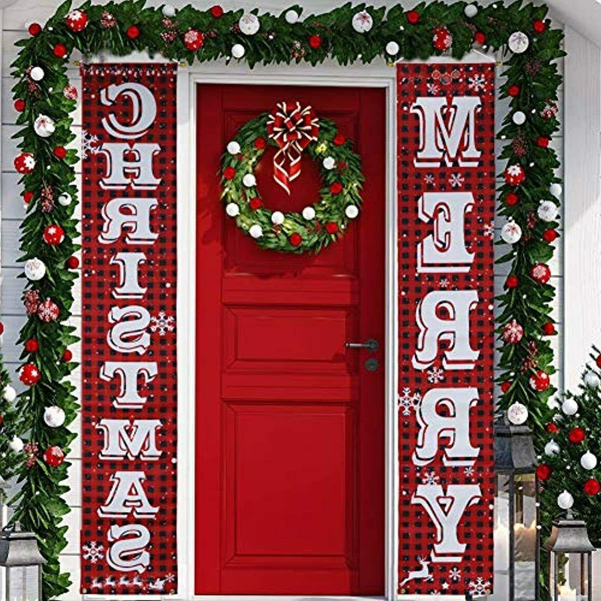 Recent Keriqi Christmas Decorations Outdoor Merry Christmas Porch For Merry Christmas Sign Wall Décor (View 15 of 20)