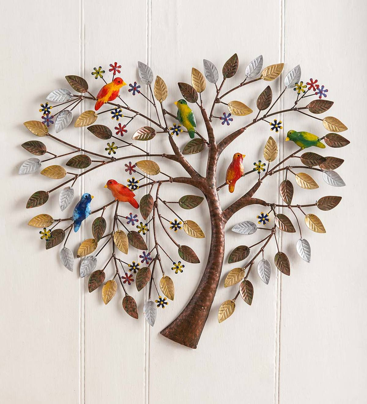 Recent Maria Metal Capiz Wall Décor For Handcrafted Heart Tree Metal Wall Art (View 15 of 20)