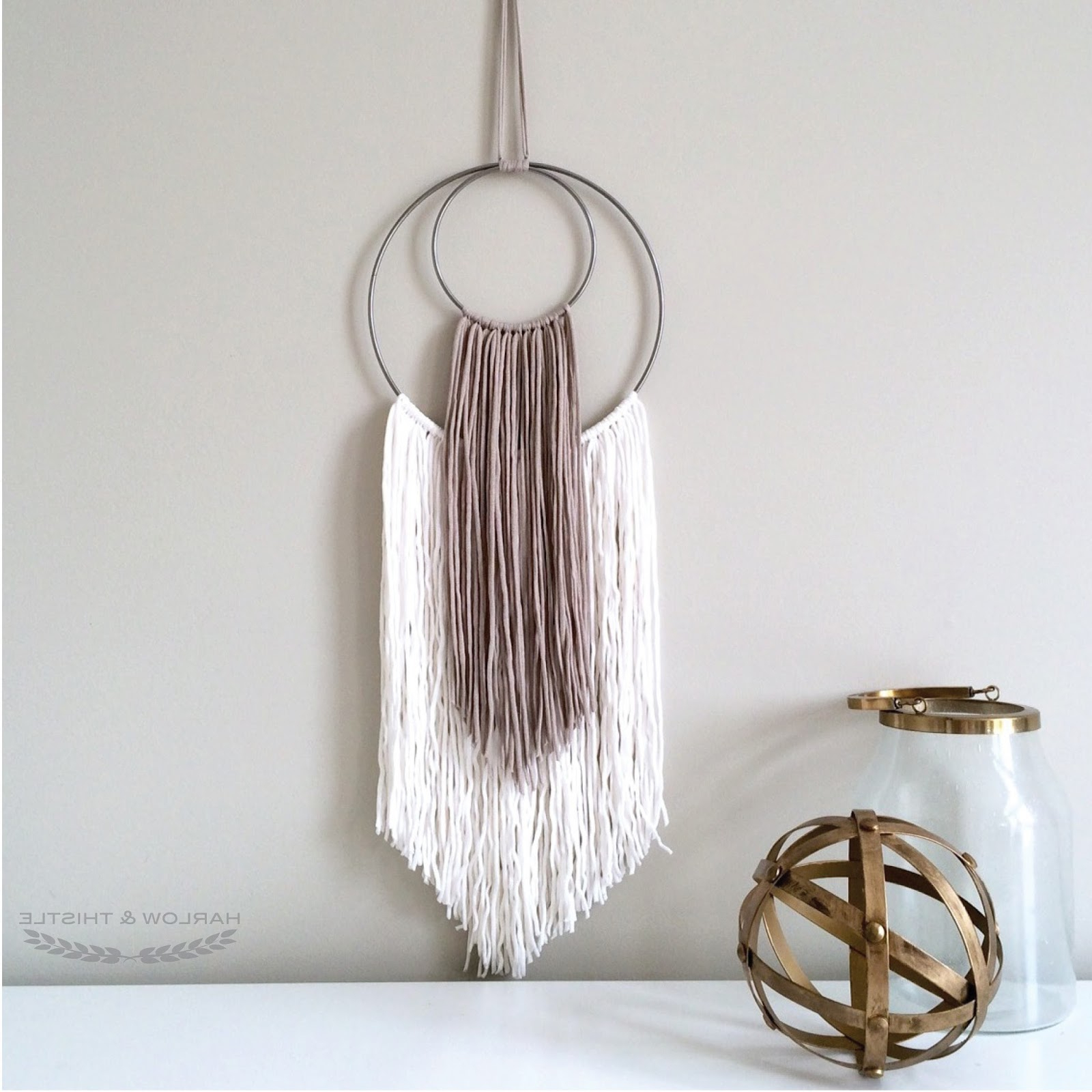 Recent Rings Wall Décor Regarding Diy Yarn Wall Art – Harlow & Thistle – Home Design (View 9 of 20)