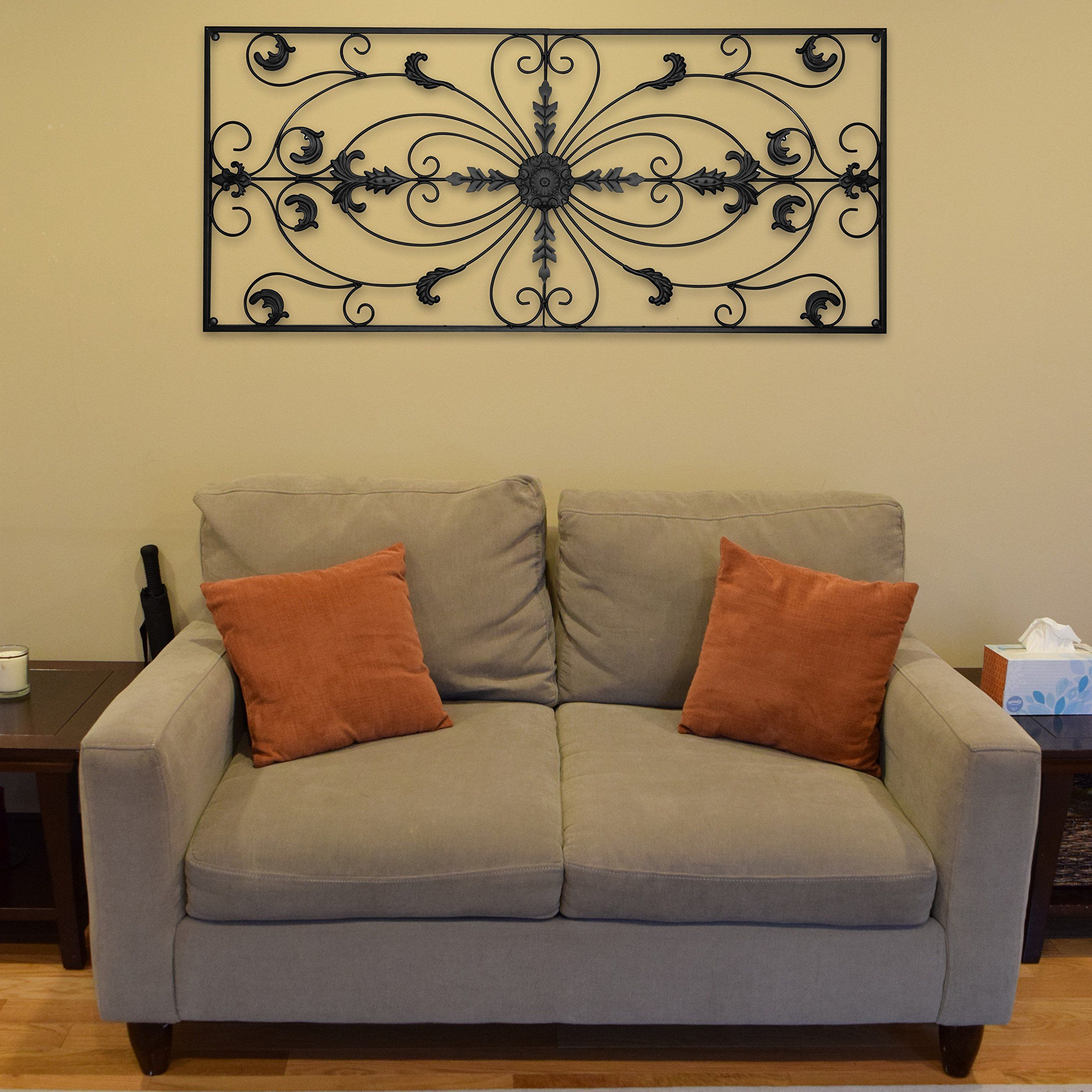 Rectangular Metal Wall Décor Within Recent Gbhome Gh6778 Metal Wall Decor Decorative Victorian Style (View 16 of 20)