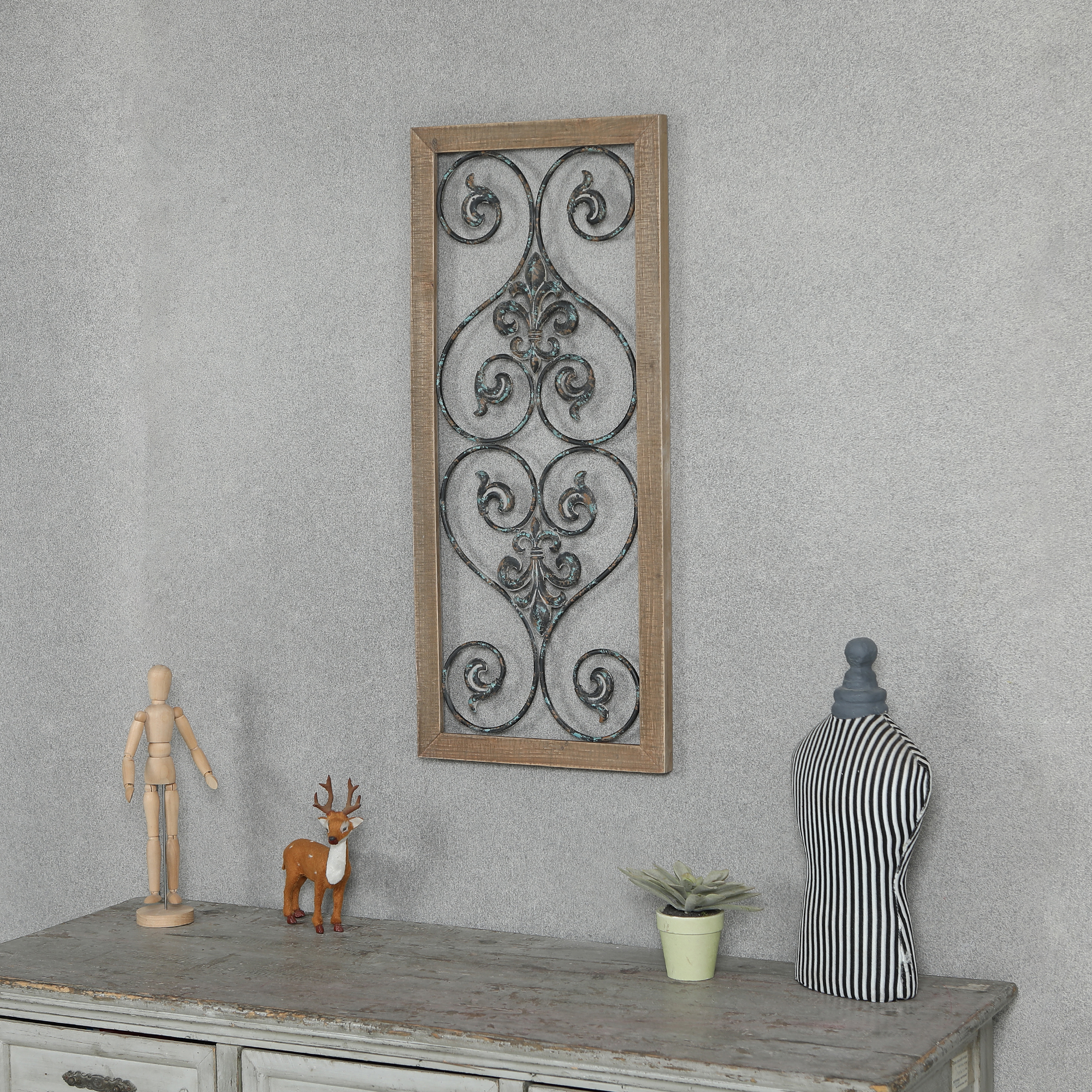 Rectangular Wood And Metal Scroll Wall Decor Intended For Popular Rectangular Metal Wall Décor (View 20 of 20)