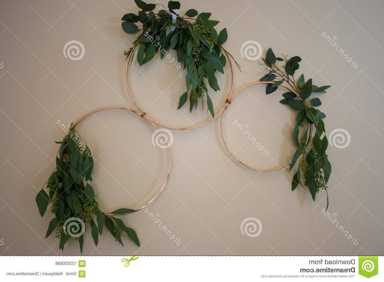 Rings Wall Décor With Most Popular Wedding Wall Decor With Gold Rings Stock Photo – Image Of (View 8 of 20)