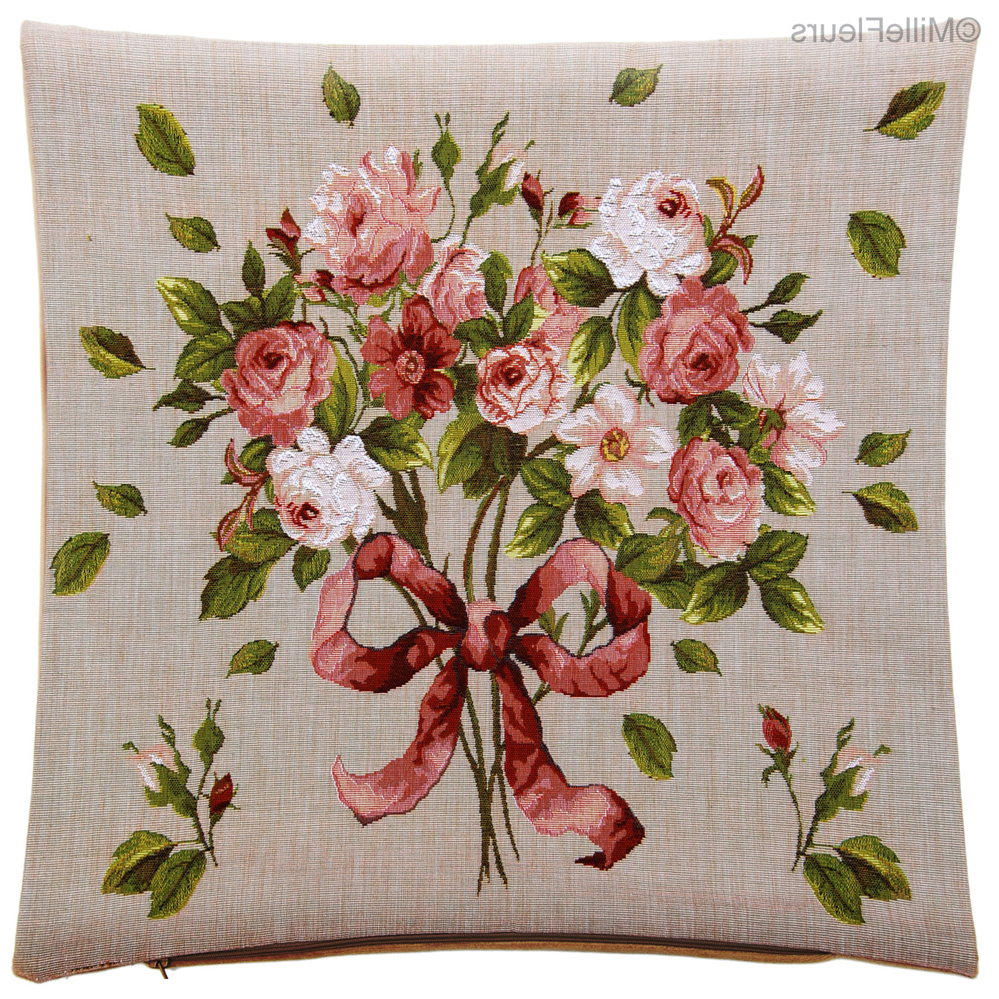 Roses – Contemporary Flowers – Tapestry Cushions – Mille Within Newest Roses I Tapestries (View 20 of 20)