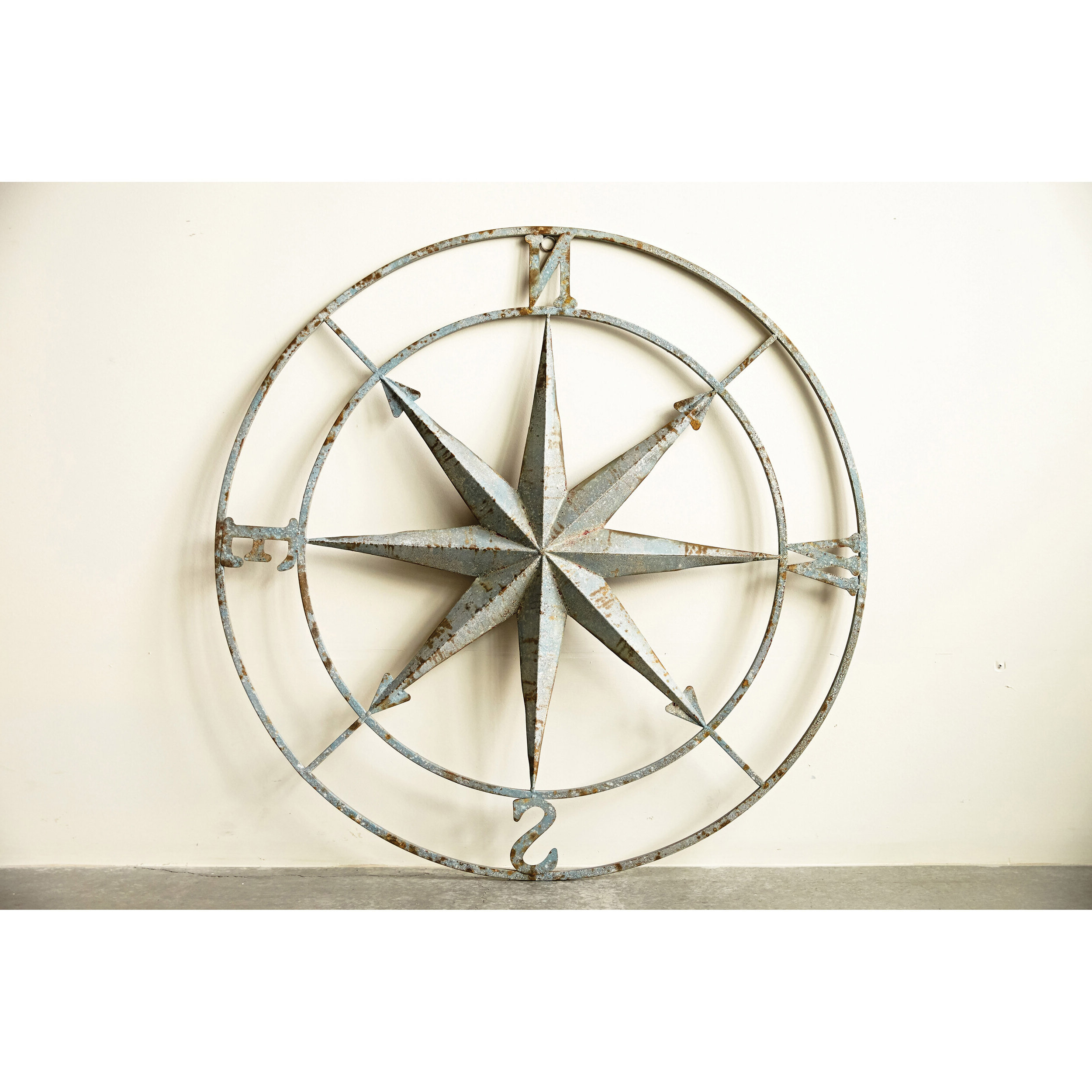 Round Compass Wall Décor For Well Known Compass Metal Wall Décor By Beachcrest Home (View 19 of 20)