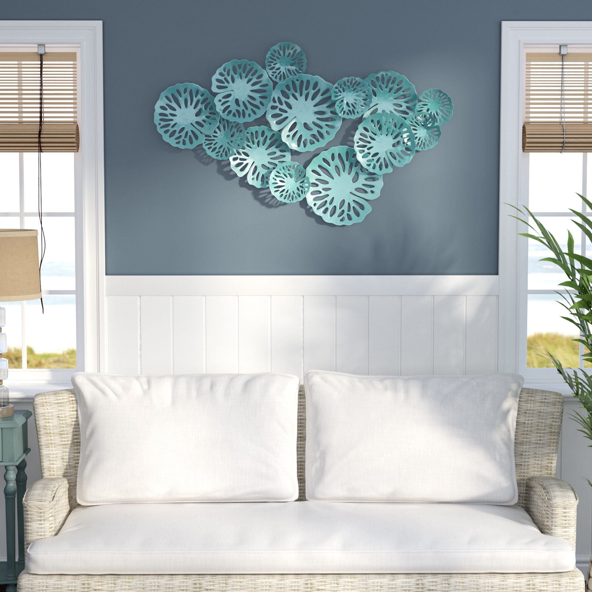 Featured Photo of Sand Dollar Cluster Wall Décor