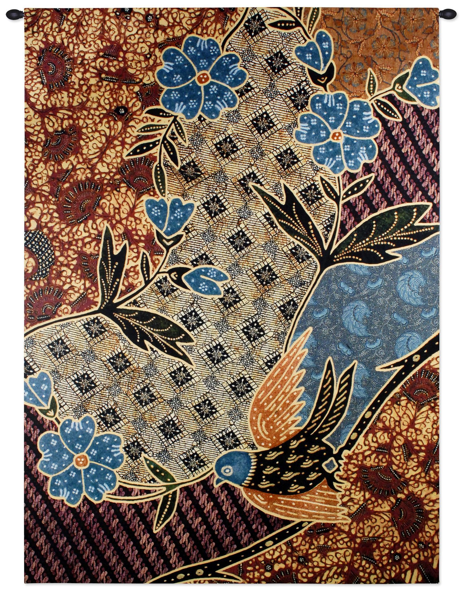 Seni Tradisional For Latest Blended Fabric In His Tapestries And Wall Hangings (View 14 of 20)
