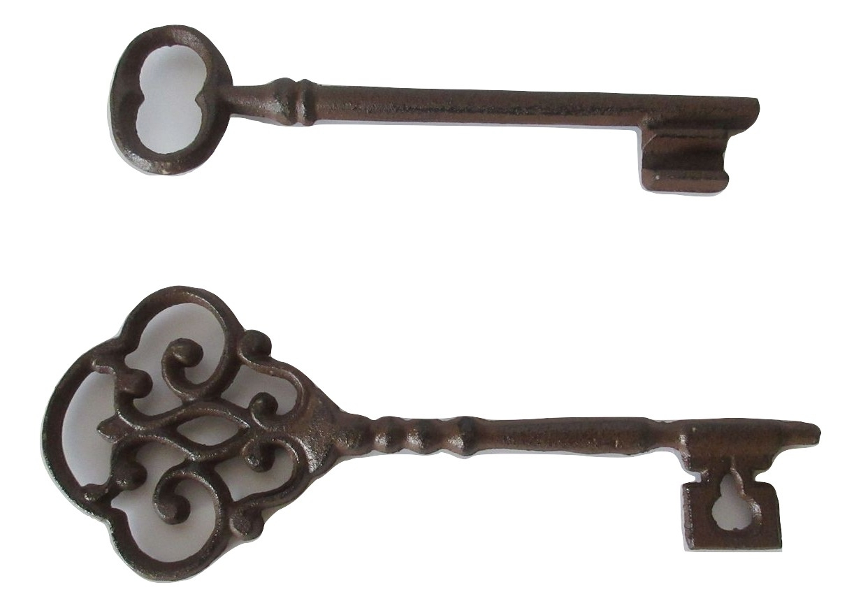 Set Of 2 Decorative Iron Skeleton Keys Wall Decor – Walmart For Best And Newest Key Wall Décor (set Of 2) (View 12 of 20)