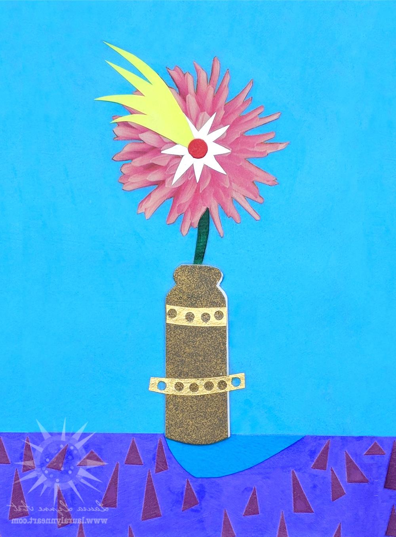 Shooting Star Whimsical Flower Wall Art Print Throughout Newest Whimsical Flower Wall Décor (View 13 of 20)
