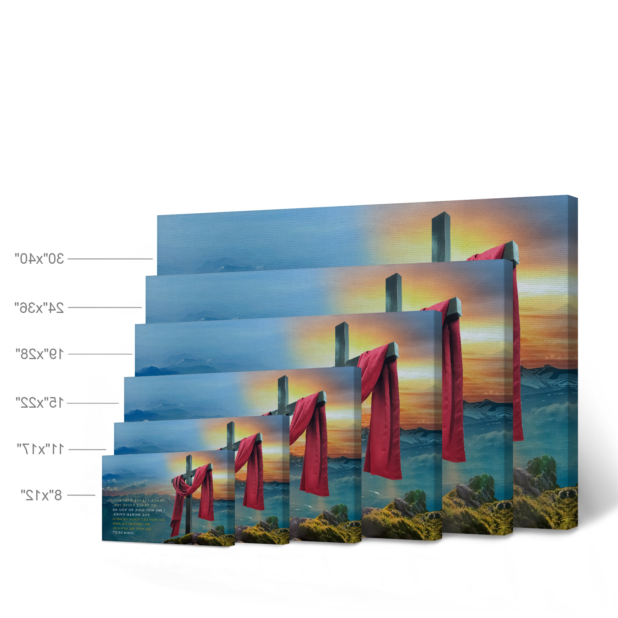 Smile Art Design Scripture Bible Verse Wall Art Canvas Print John 14:27 Do Not Be Afraid Jesus Lord God Christ Pray Cross Religious Living Room In Fashionable Peace I Leave With You Wall Hangings (View 19 of 20)