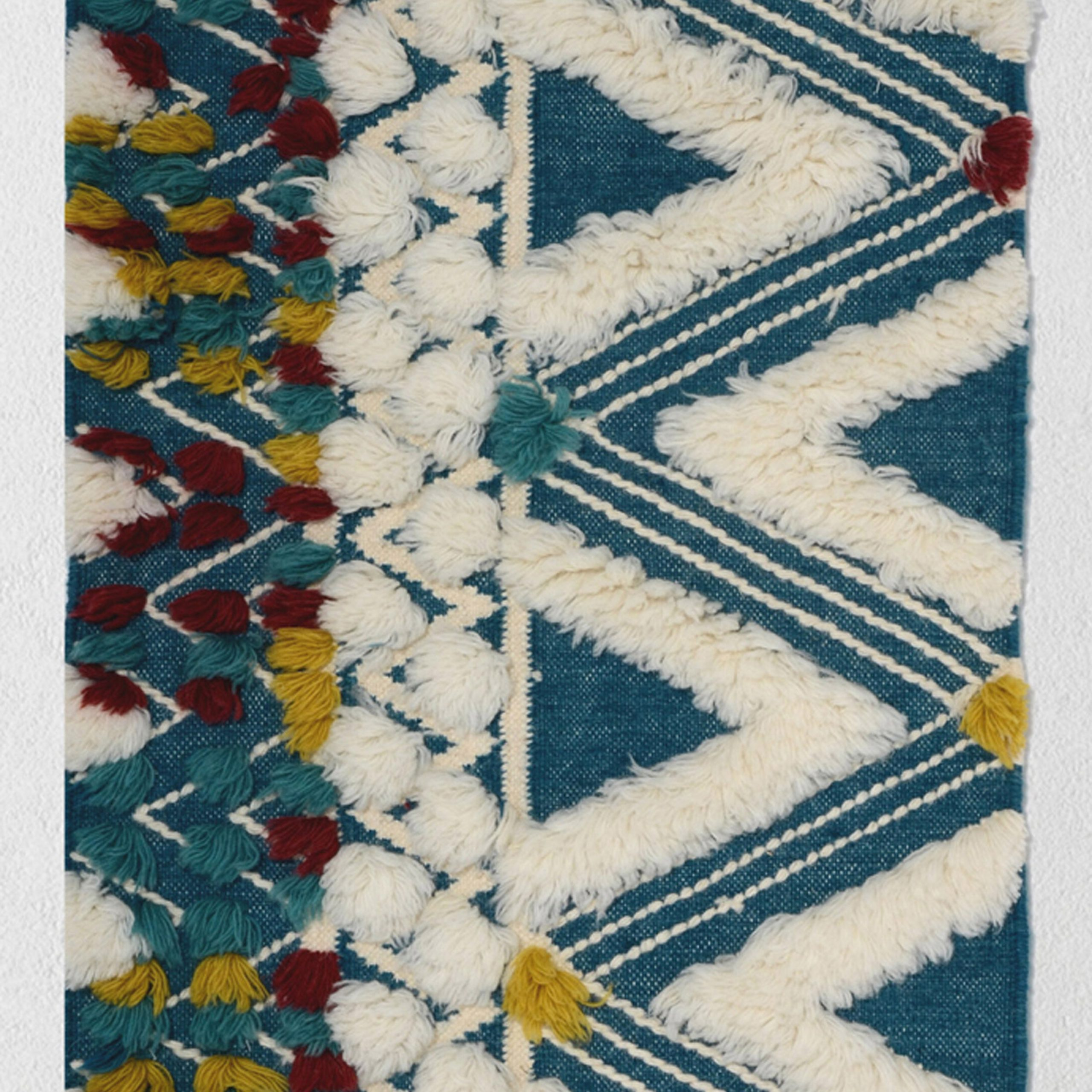 Southwestern Bohemian Wall Hanging With Trendy Blended Fabric Southwestern Bohemian Wall Hangings (View 2 of 20)