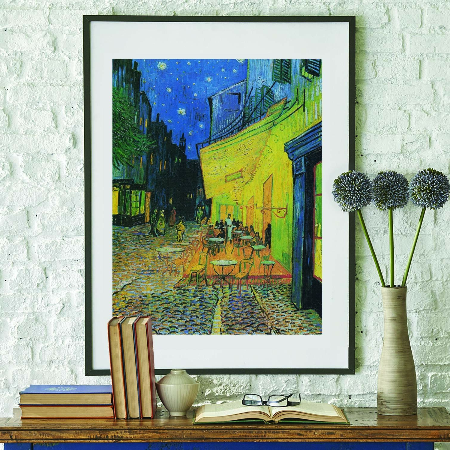 Spasova Café Terrence At Night 1888vincent Van Gogh Painting Wall Decal Regarding 2020 Blended Fabric Van Gogh Terrace Wall Hangings (View 16 of 20)