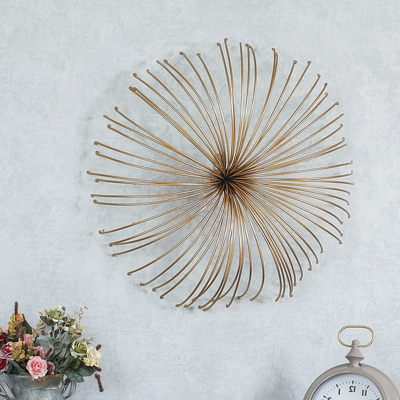 Starburst Wall Décor By Wrought Studio Regarding 2019 Iron Flower Starburst Wall Décor (View 10 of 20)