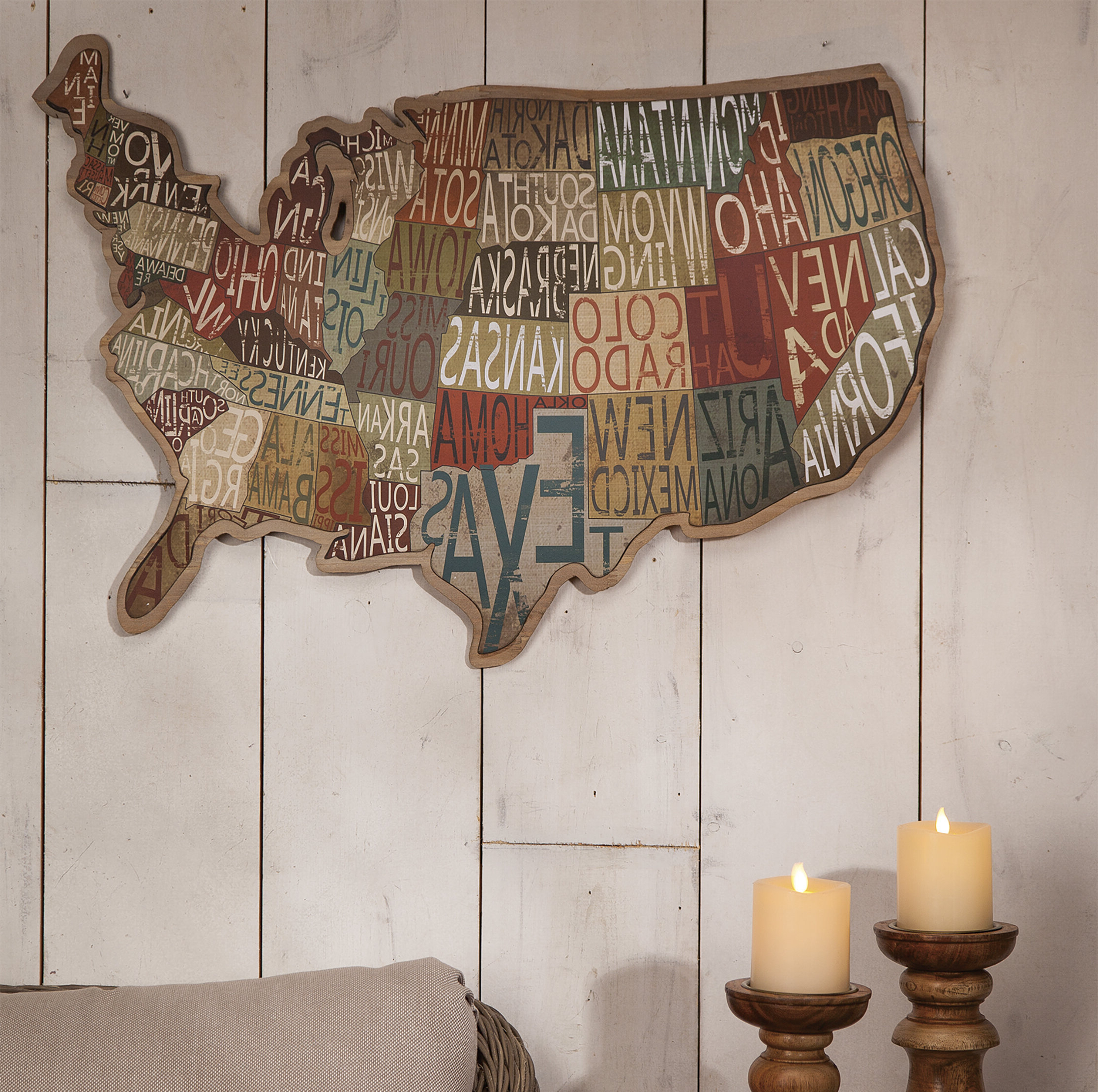 State Map Metal Mdf Wall Decor Inside Most Recently Released Metal Wall Décor By Charlton Home (View 6 of 20)