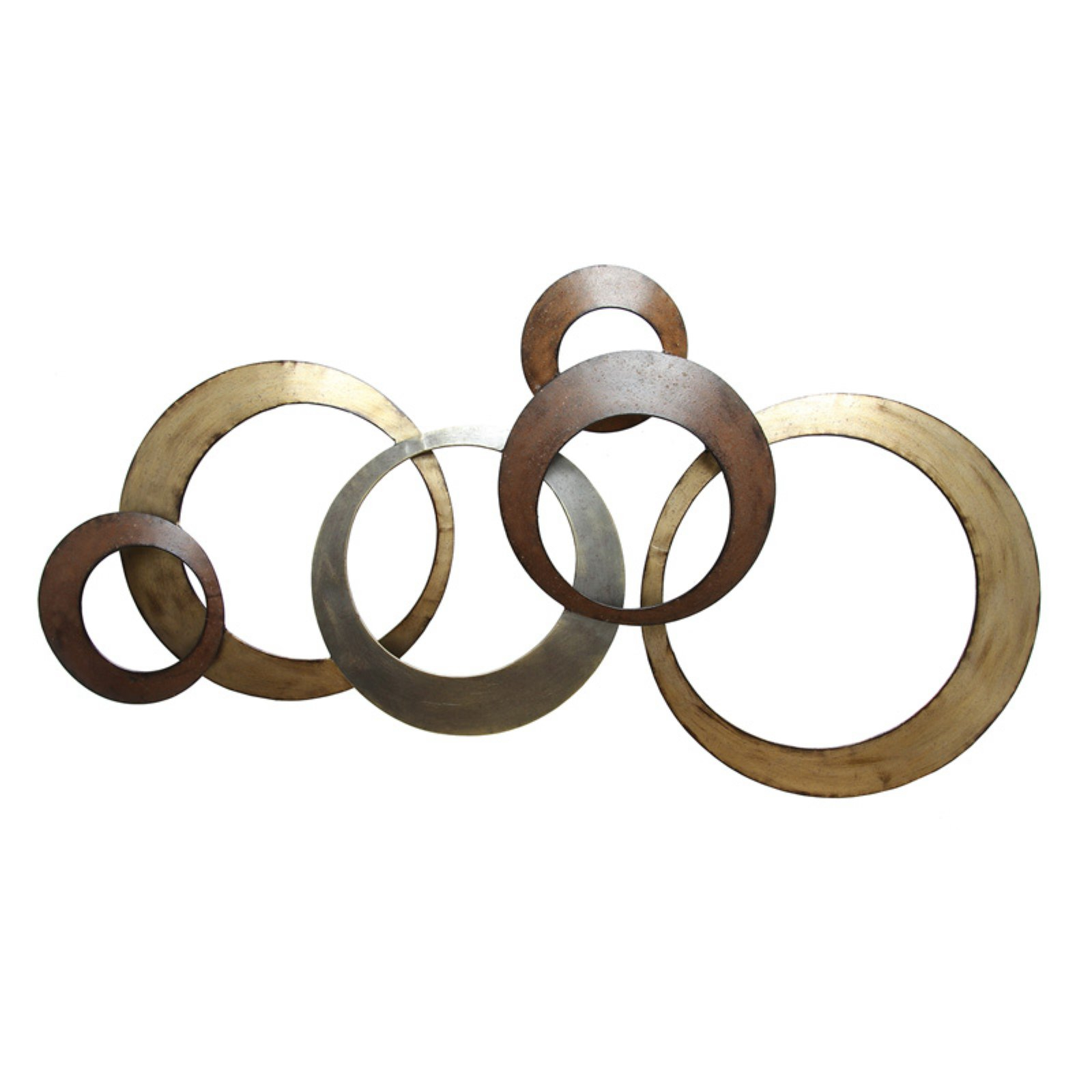 Stratton Home Decor Metallic Rings Wall Decor – Walmart Inside Preferred Rings Wall Décor By Stratton Home Decor (View 4 of 20)