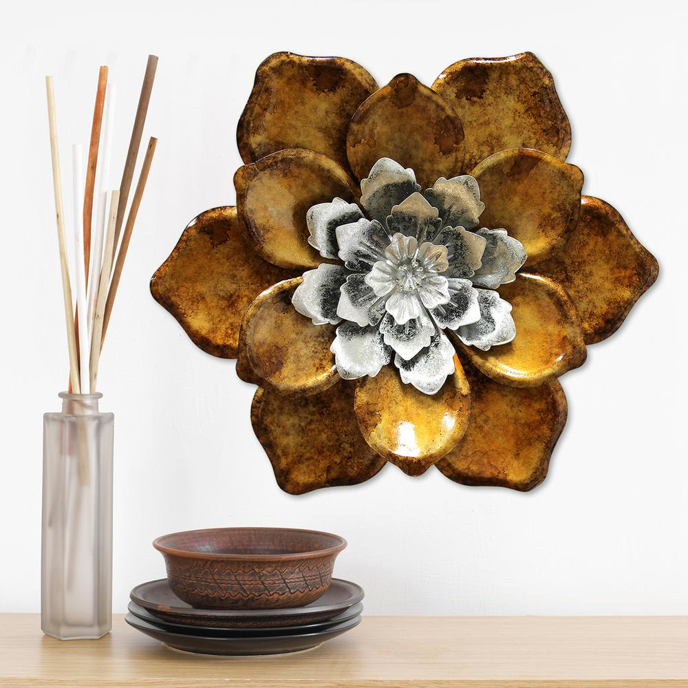 Stratton Home Decor Stratton Home Decor Whimsical Flower Wall Decor Shd0176 – The Home Depot In Well Known Whimsical Flower Wall Décor (View 2 of 20)