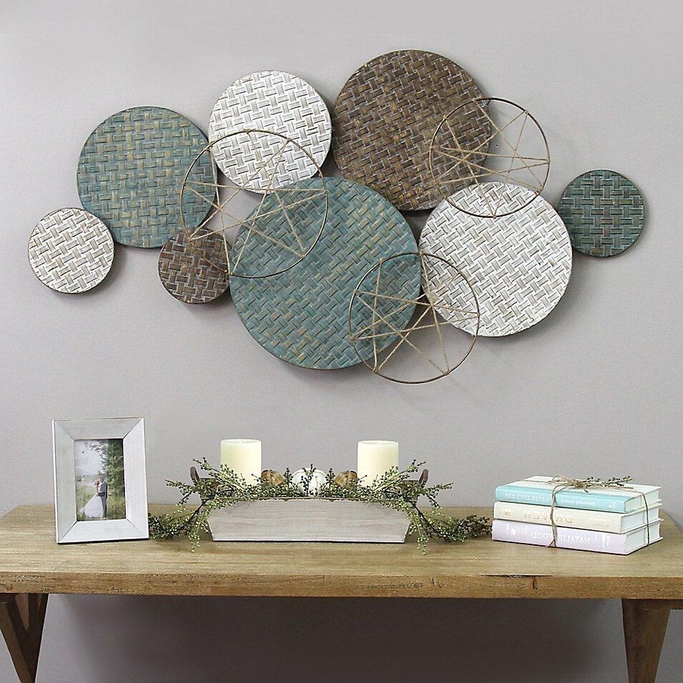Stratton Home Decor Woven Texture Metal Plates (View 16 of 20)