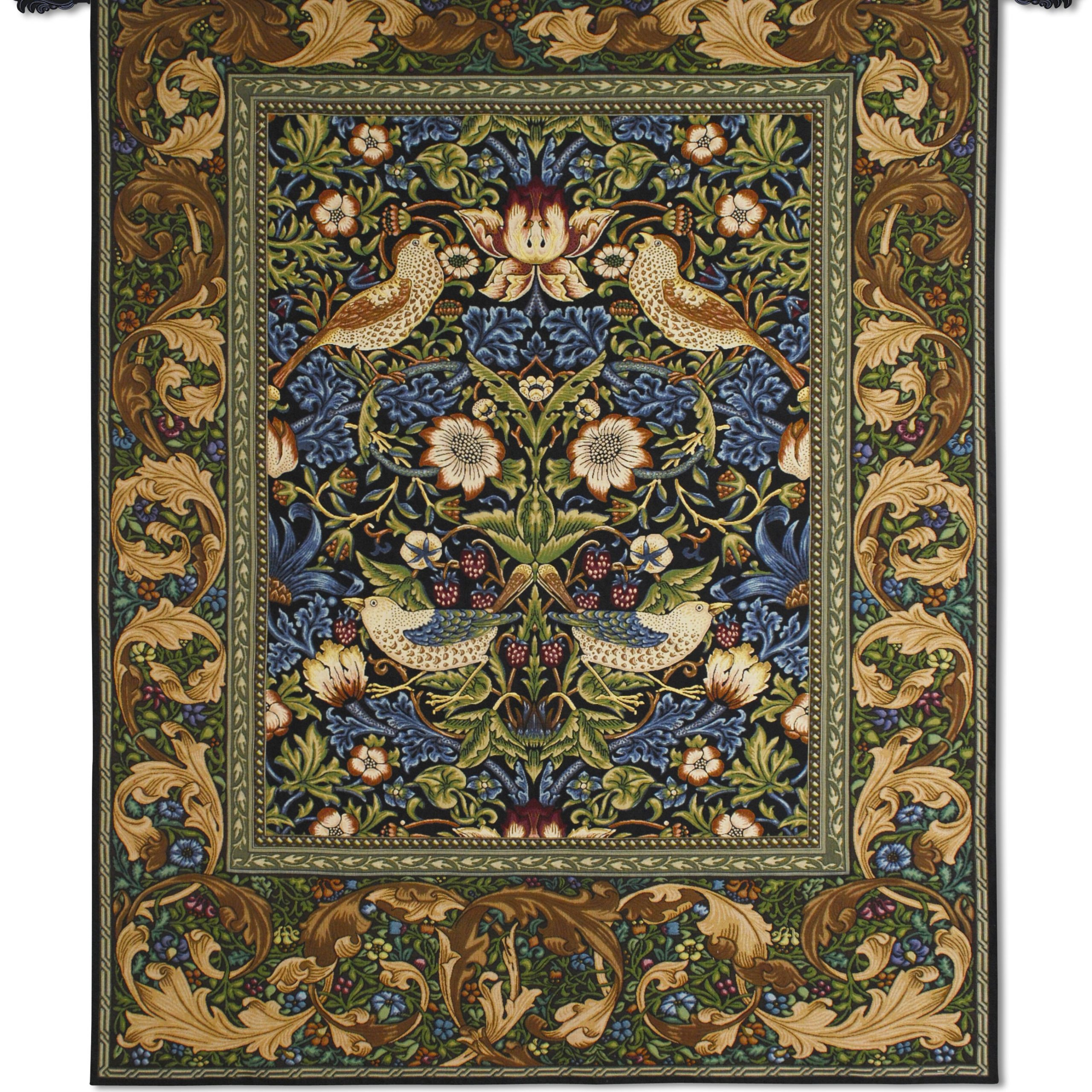 Strawberry Thiefwilliam Morris Tapestry Intended For Most Popular Blended Fabric Breeze Of Admiration Woven Tapestries (View 3 of 20)