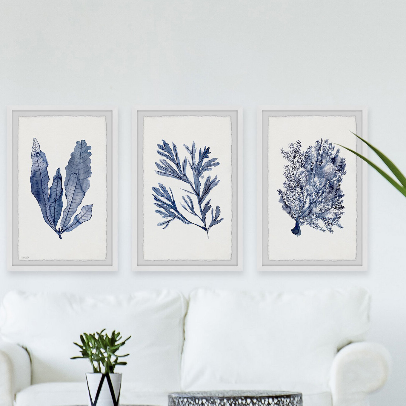 Swallows Wall Decor (set Of 6) By Highland Dunes Regarding Famous Seaweed Under Water V'marmont Hill – 3 Piece Picture Frame Print Set On Paper (View 4 of 20)