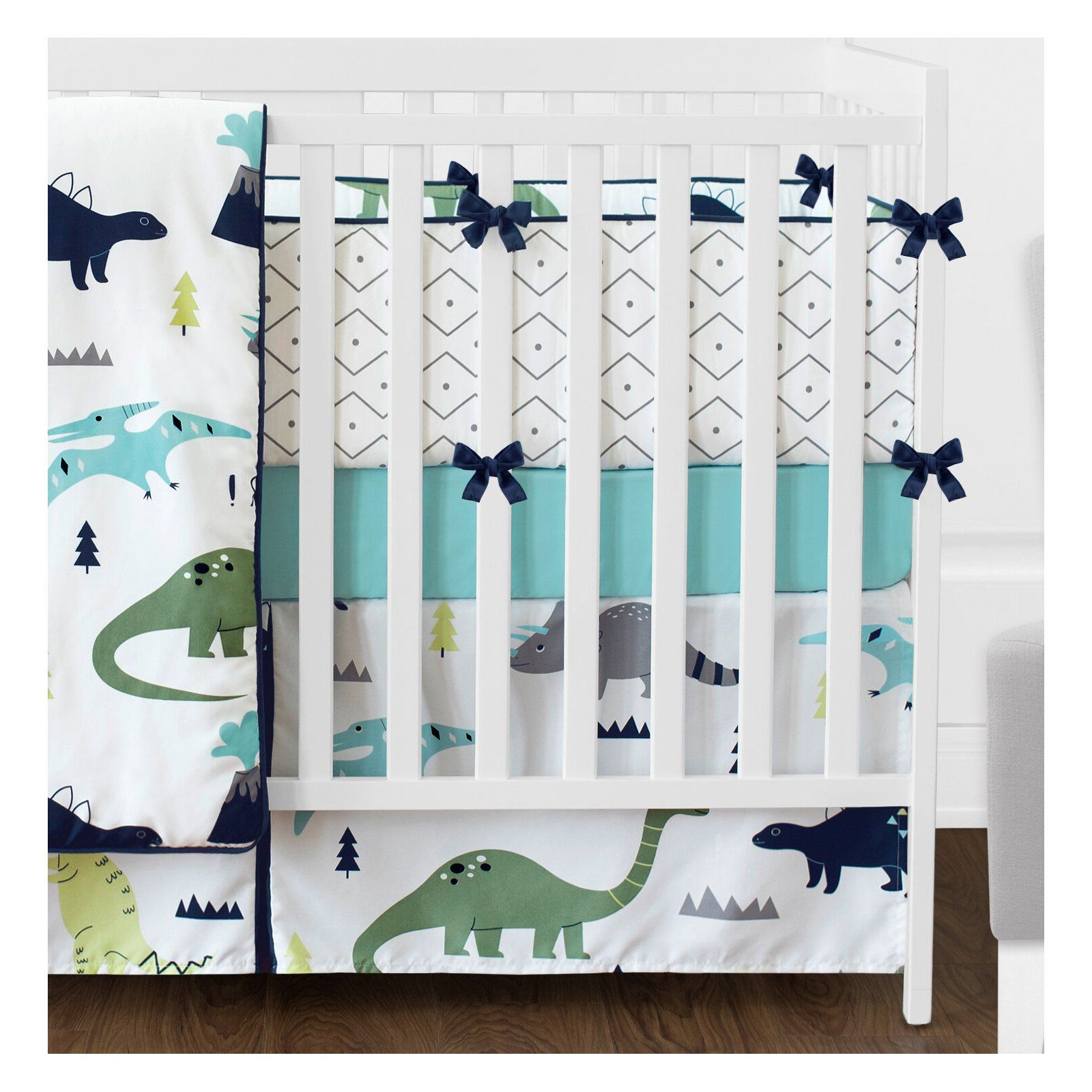 Sweet Jojo Designs Mod Dinosaur 9 Piece Crib Bedding Set Regarding Preferred Blended Fabric Mod Dinosaur 3 Piece Wall Hangings Set (View 6 of 20)