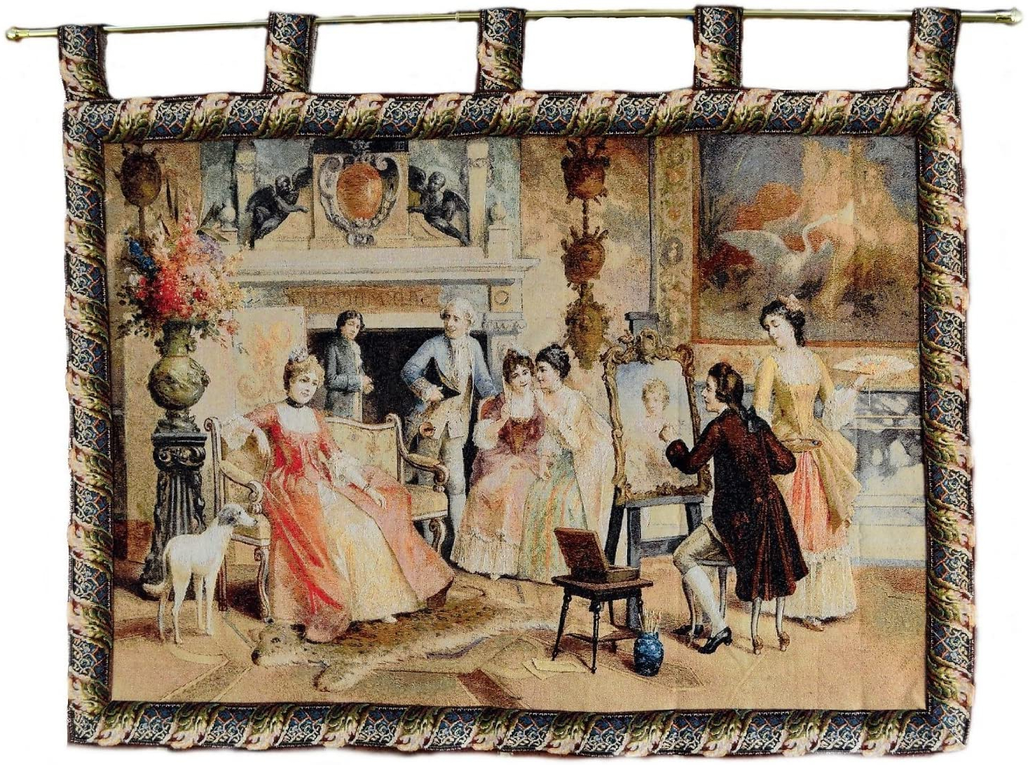 Tache Home Fashion Picture Day Jacquard Tapestry Wall Hanging, 28 X 41 Within Favorite Blended Fabric Classic French Rococo Woven Tapestries (View 6 of 20)