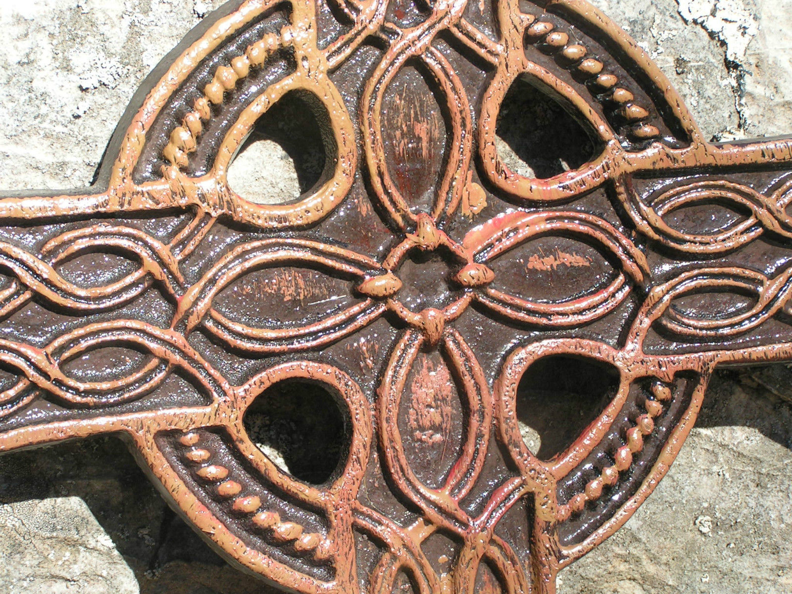 Tall Cross Rust Wall Décor Regarding Favorite Large Cast Iron Celtic Wall Cross 18 5/8 And 50 Similar Items (View 13 of 20)