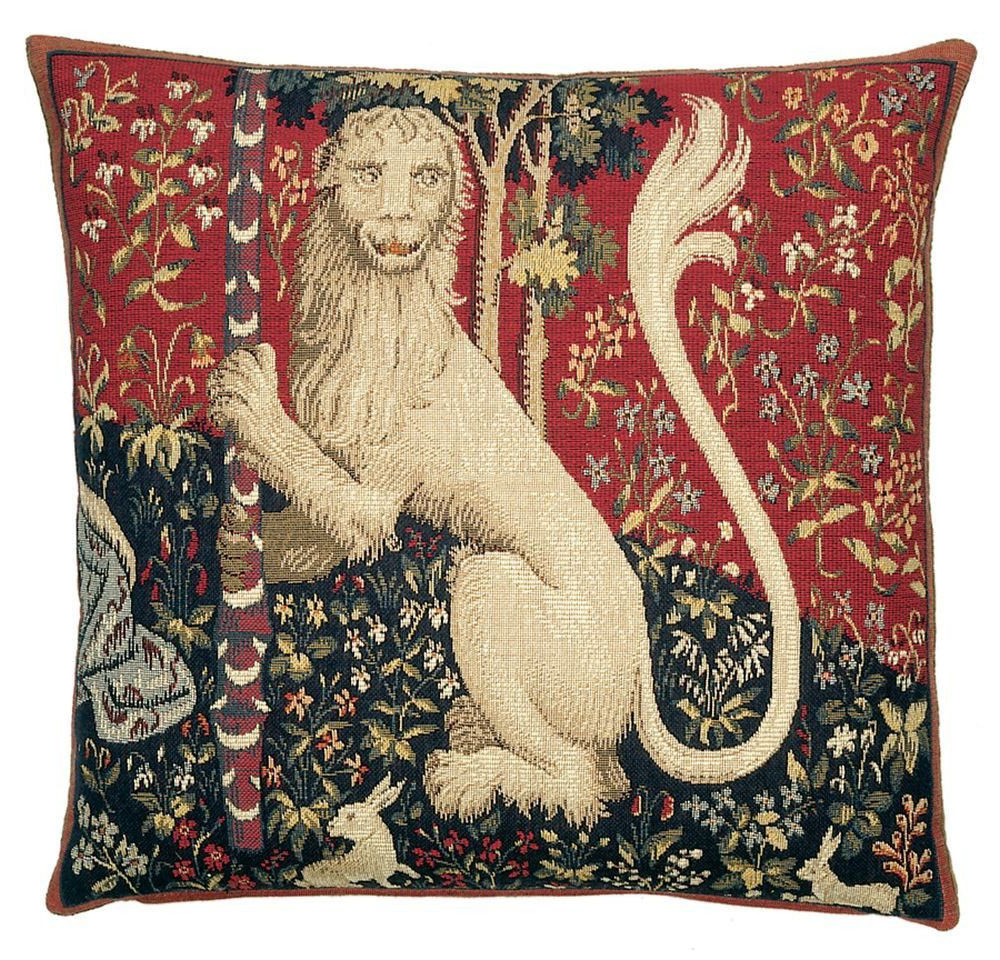 Tapestry Cushion, Lion Throughout Lion I European Tapestries (View 6 of 20)