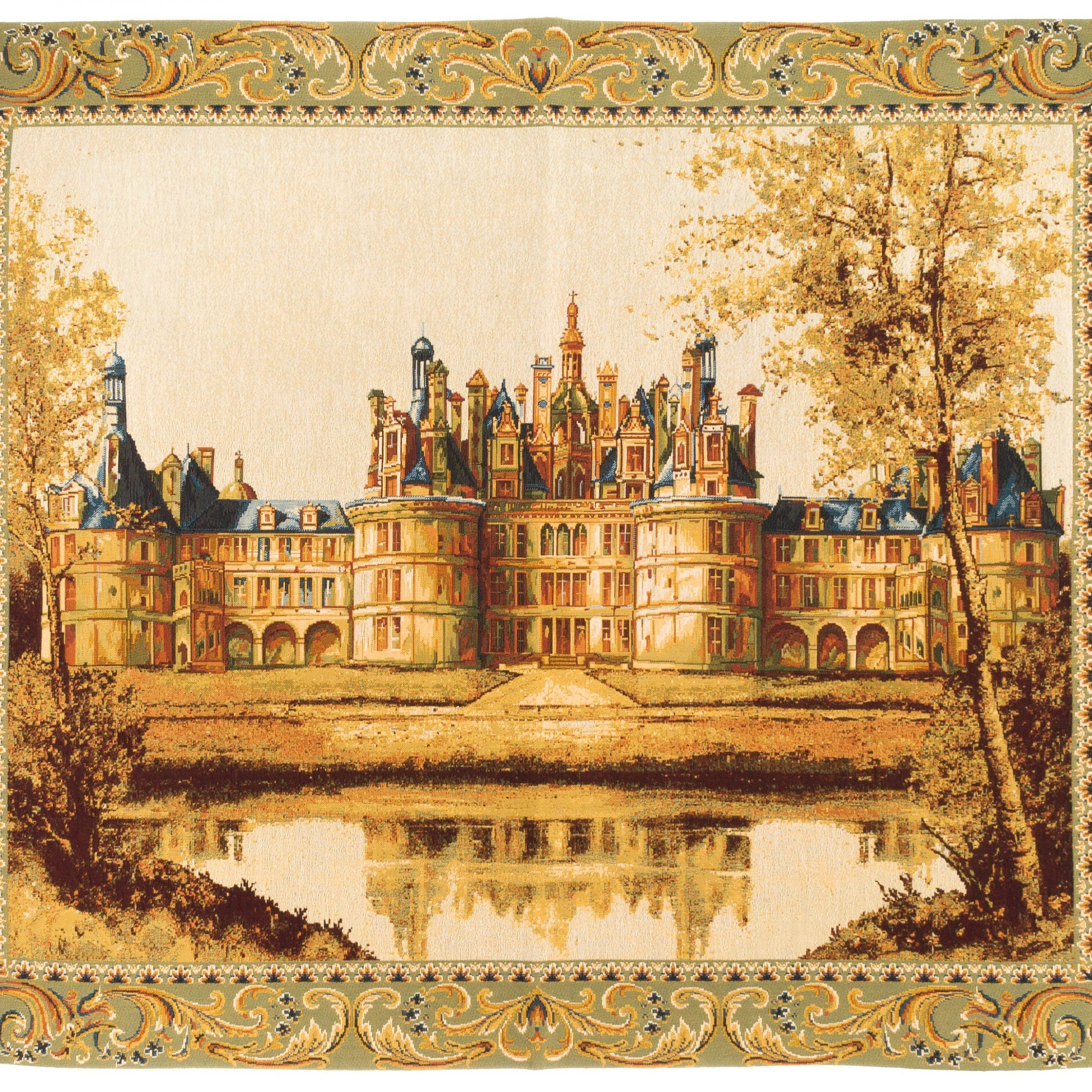 Tapestry Wall Hanging Chambord Castle – Frech Castle With Regard To Well Known Chambord Castle I European Wall Hangings (Gallery 3 of 20)