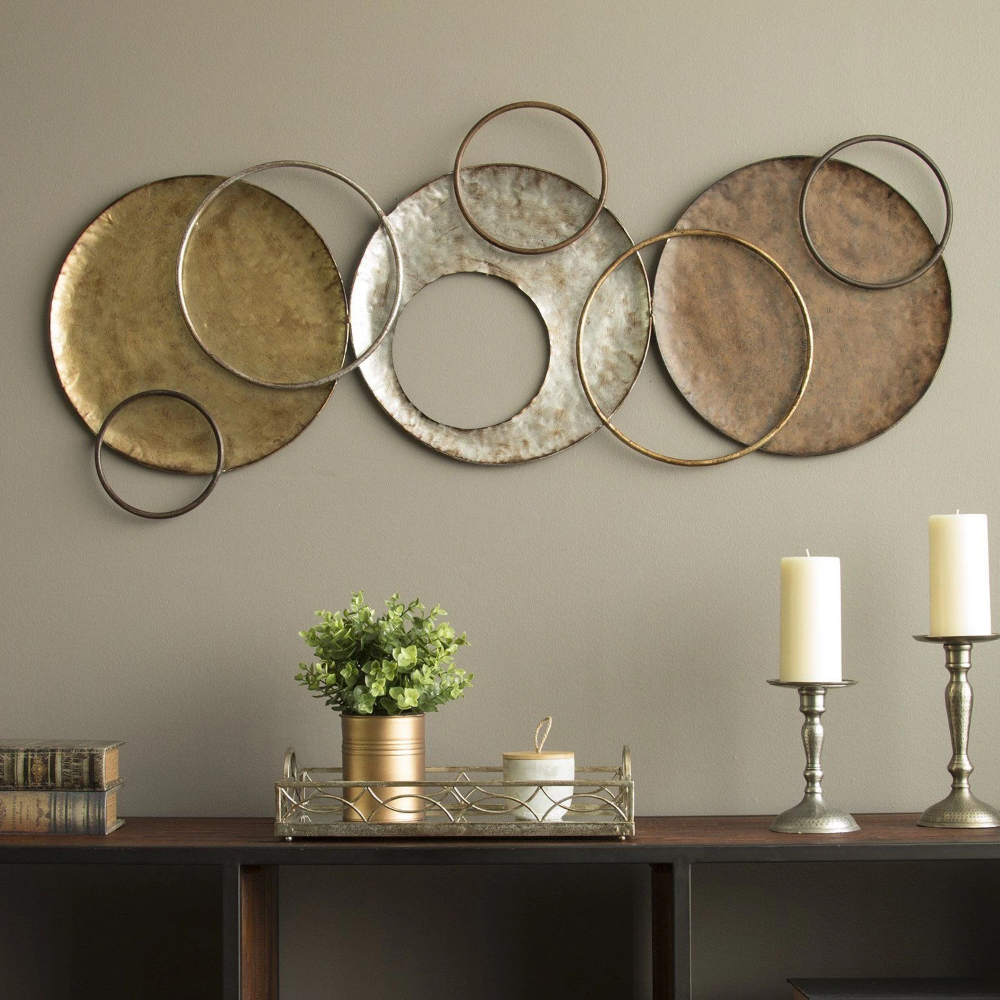 Textured Silver Metal Wall Decor In (View 8 of 20)