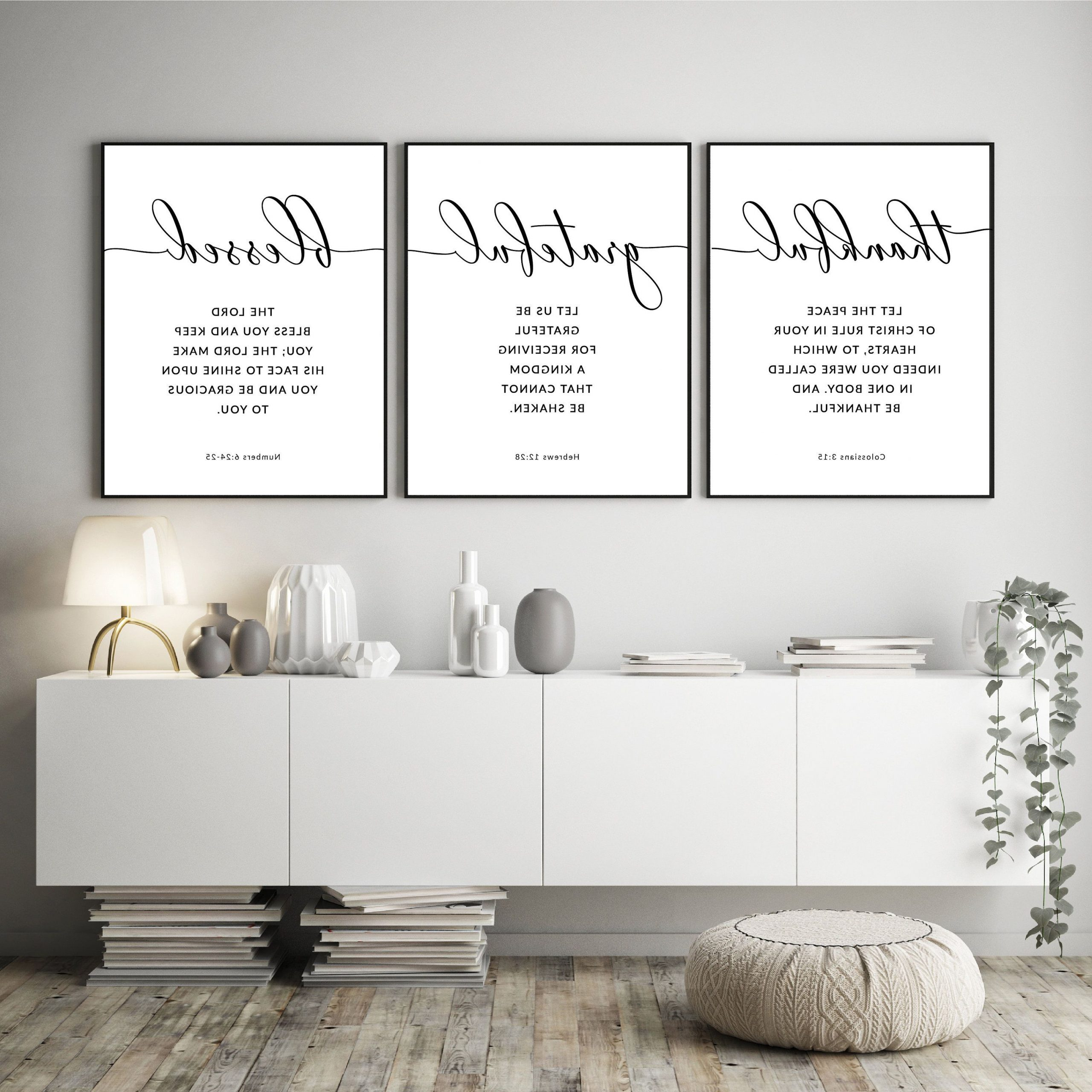 Thankful Grateful Blessed Bible Verse Printable Wall Art With Regard To 2019 Grateful, Thankful, Blessed Wall Decor (View 4 of 20)