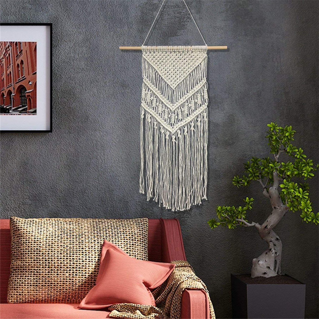 The 7 Best Macrame Wall Hangings Pertaining To Most Recently Released Blended Fabric Wall Hangings With Hanging Accessories Included (View 10 of 20)