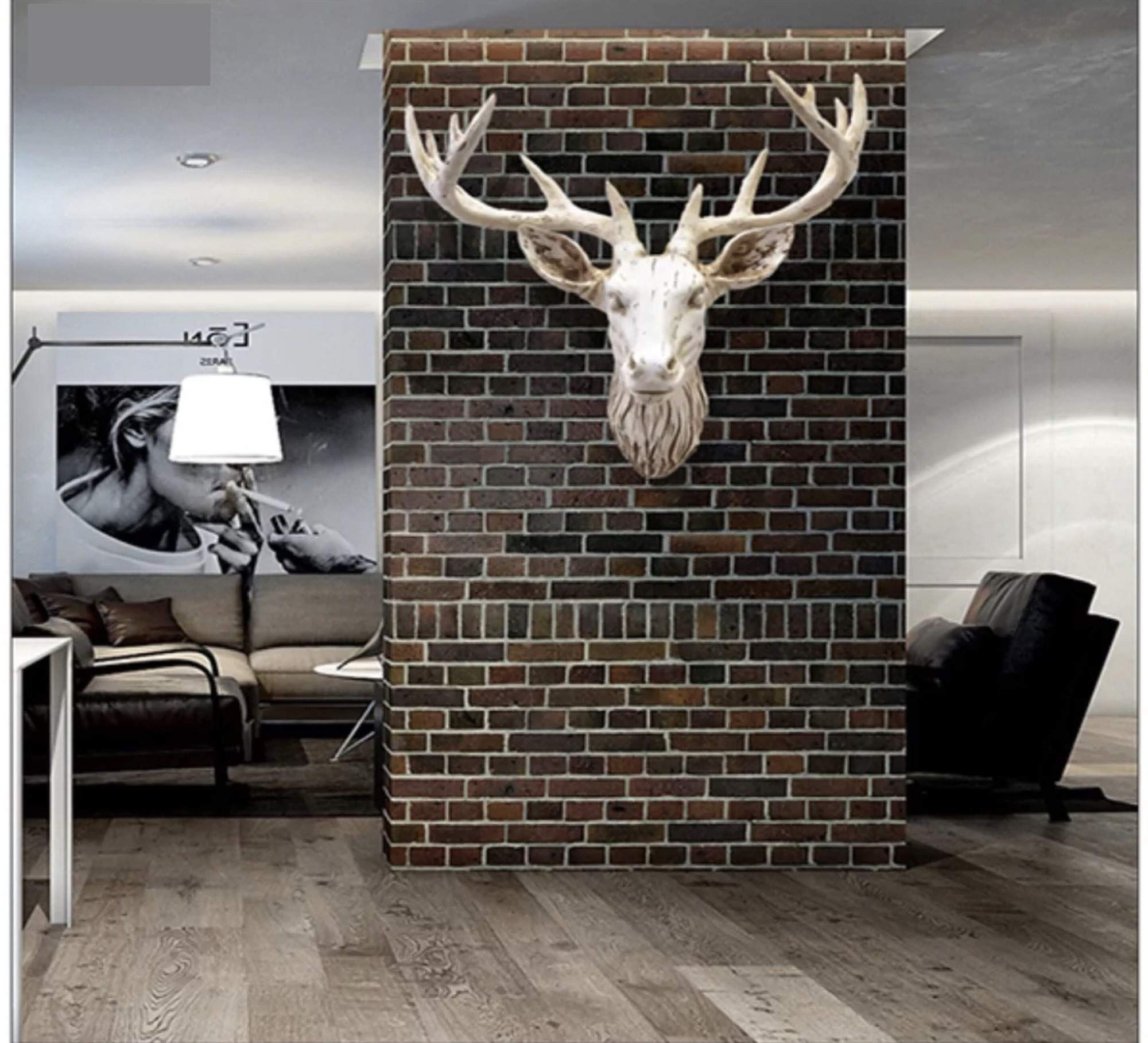 The Frankfurt Deer Head Wall Décor For Famous Yj Home Deer Head Wall Decor – Faux Stag Mounted Animal Head (View 6 of 20)