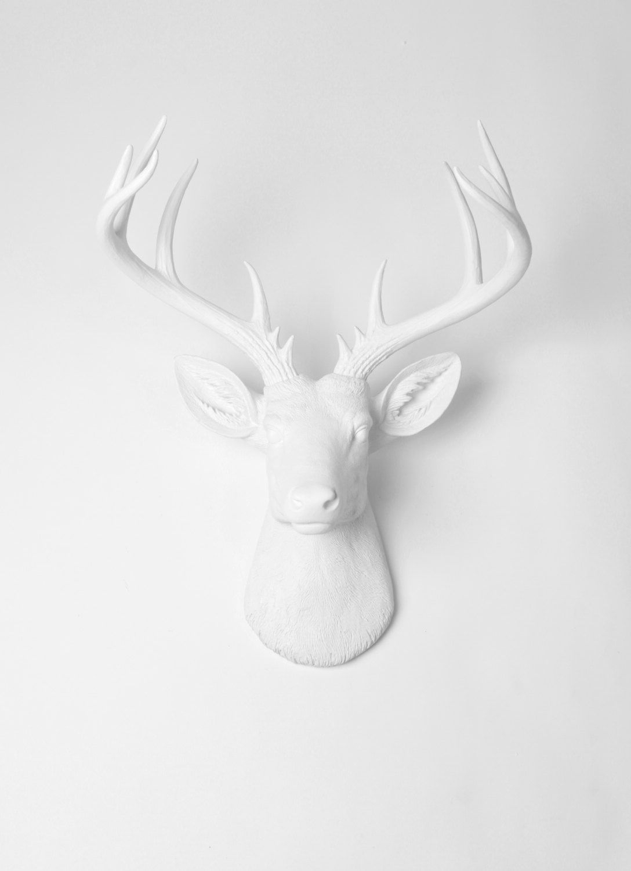 The Frankfurt Deer Head Wall Décor In Preferred X Large Deer Head Wall Mount The Templeton White Faux Deer (View 12 of 20)