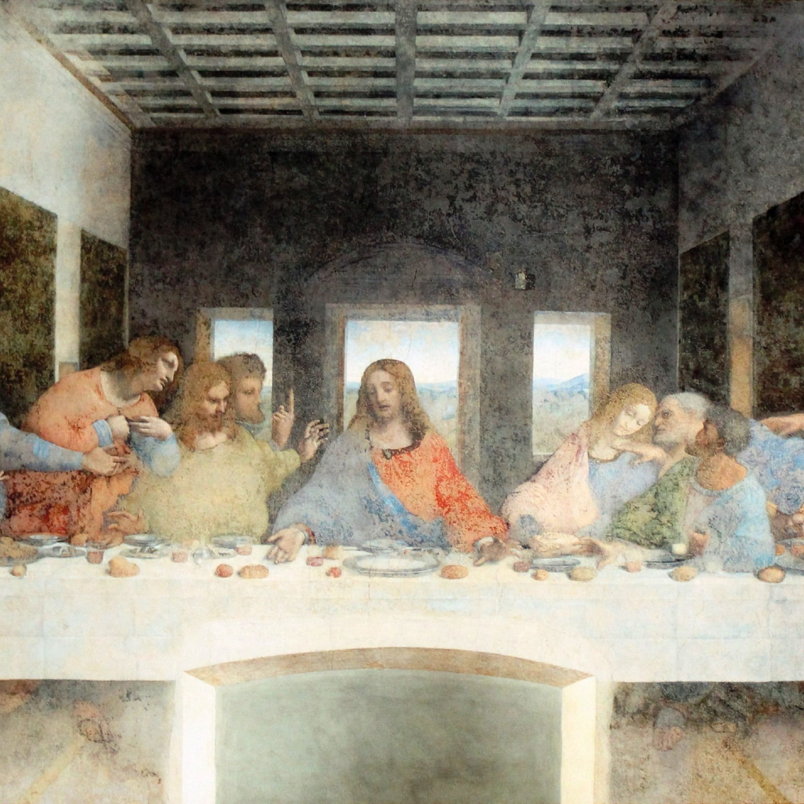 The Last Supper Paintingleonardo Da Vinci #painting Last Pertaining To 2020 Blended Fabric Leonardo Davinci The Last Supper Wall Hangings (View 5 of 20)