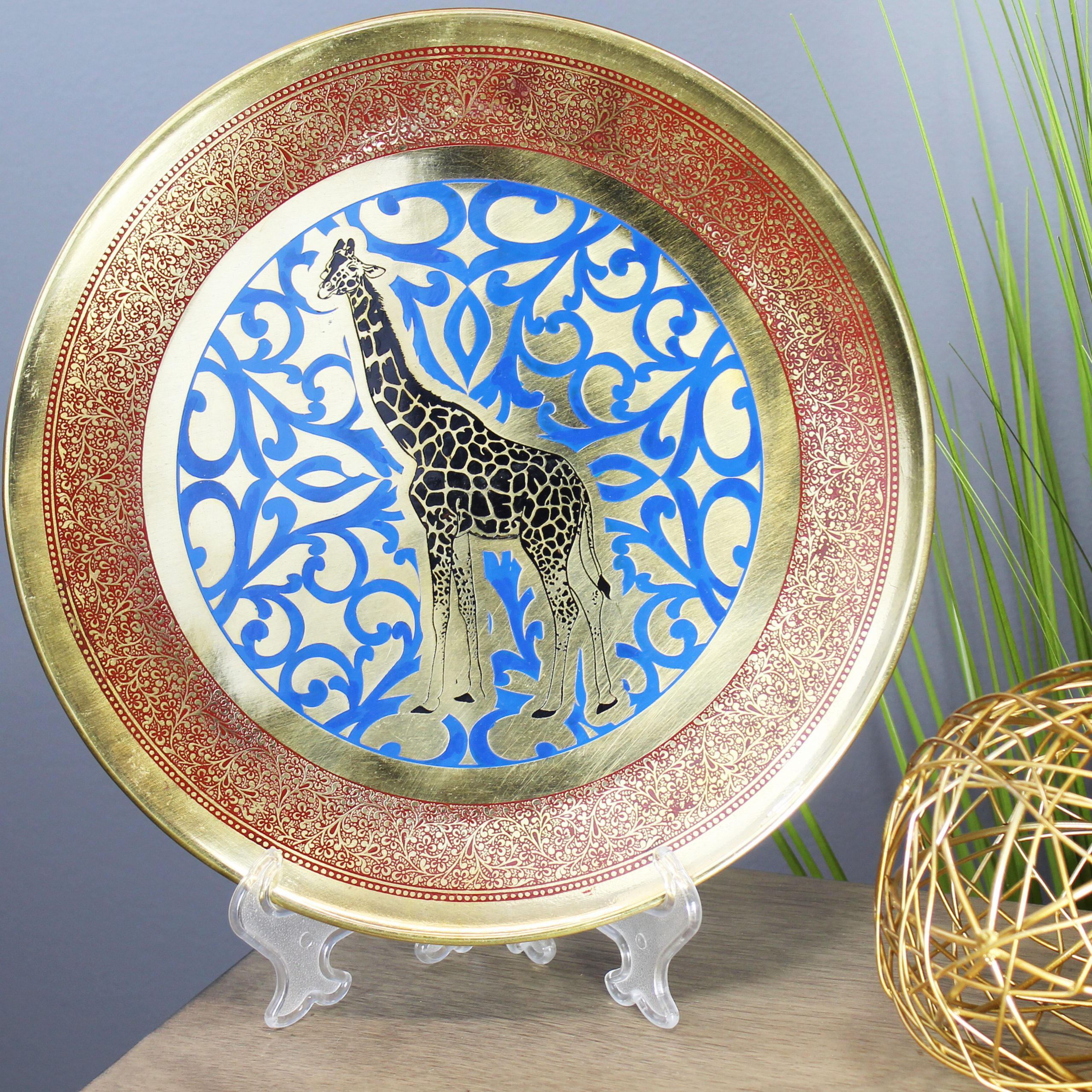 Tioga Metal Decorative Plate In Popular Floral Plate Wall Décor By World Menagerie (View 15 of 20)