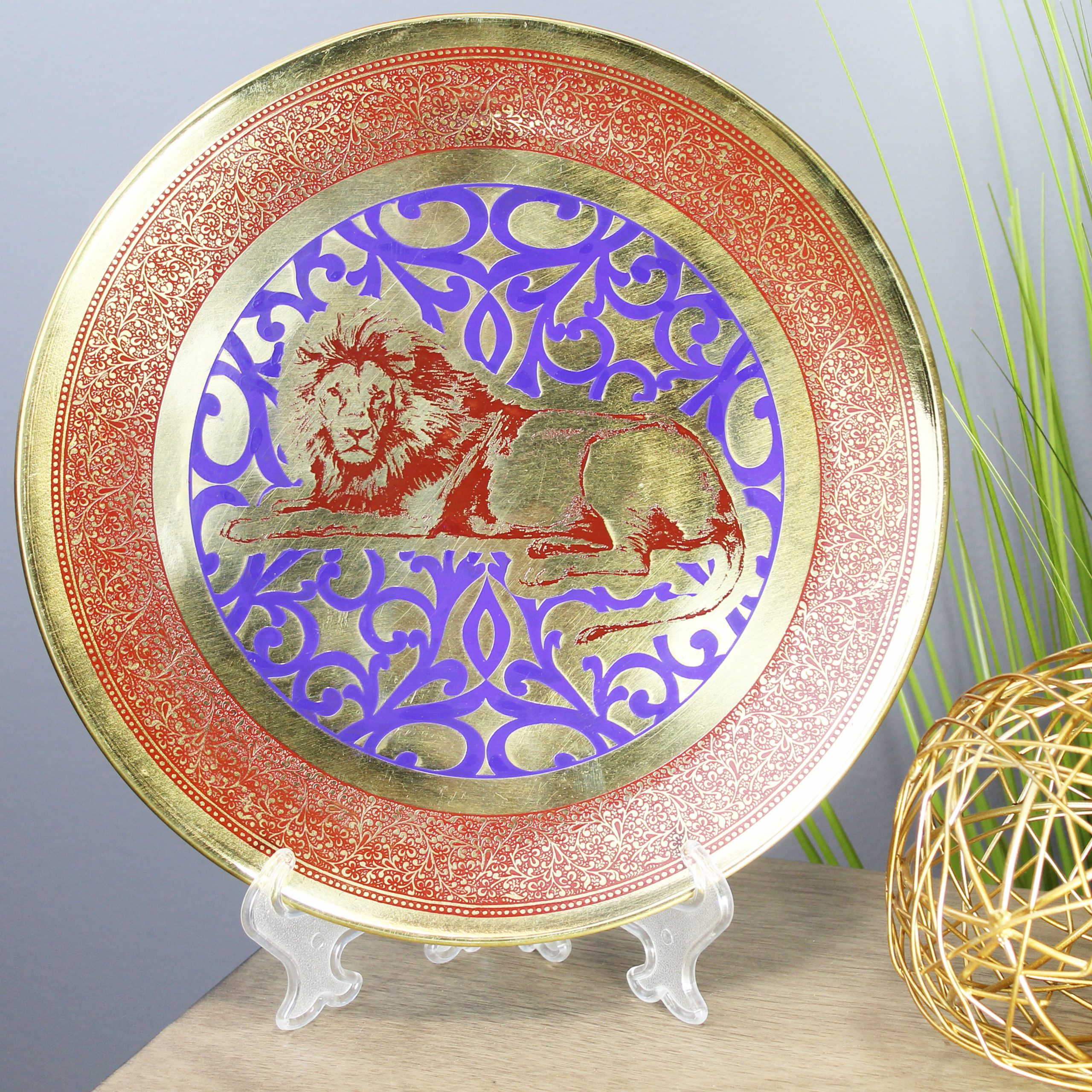Tioga Metal Decorative Plate Intended For 2020 Floral Plate Wall Décor By World Menagerie (View 9 of 20)