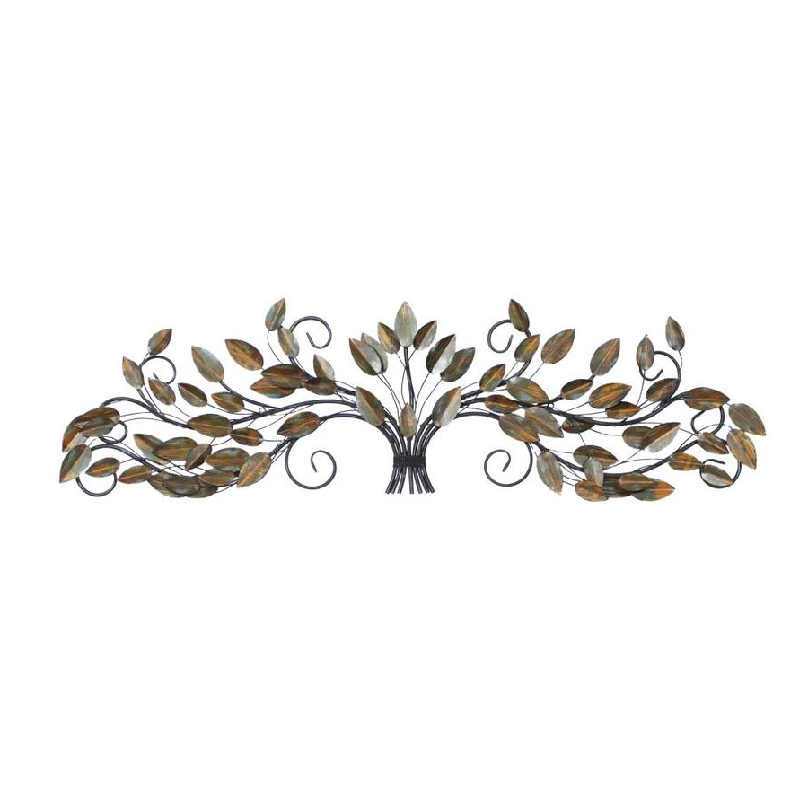 Traditional Metal Wall Plaque Within Most Up To Date Grayson Lane Traditional 'growing Tree With Vines' Metal Wall Plaque 47 In X 14 In (View 16 of 20)