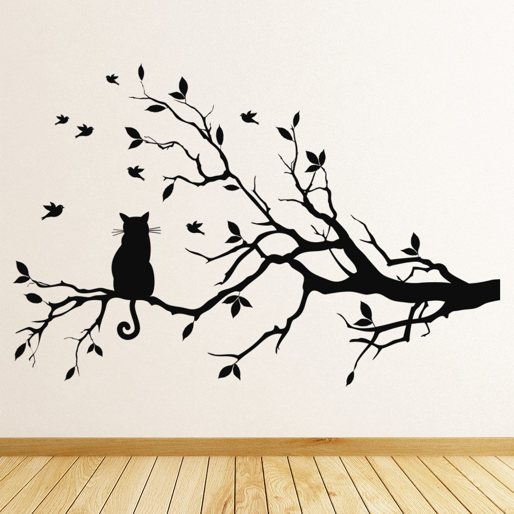 Tree Branch Wall Décor By Fleur De Lis Living With Favorite Tree Branch Cat Wall Sticker (View 16 of 20)