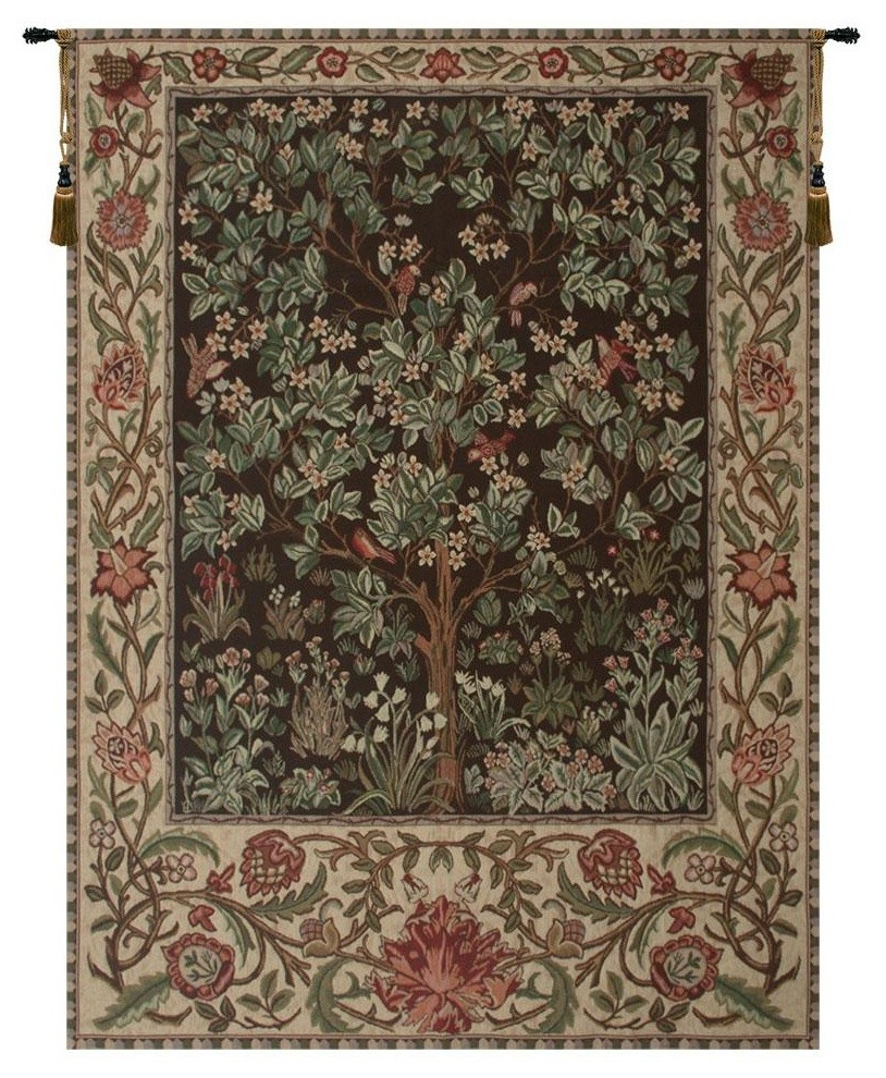 Tree Of Life – Brown Tapestry Wall Art Hanging, A – H 69 X W 51 For 2020 Blended Fabric Pastel Tree Of Life Wall Hangings (View 15 of 20)