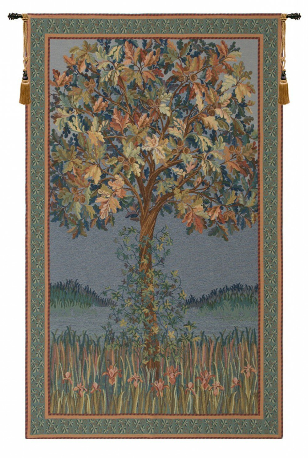 Tree Of Life Flanders Tapestry Pertaining To Fashionable Blended Fabric Living Life Tapestries (View 14 of 20)