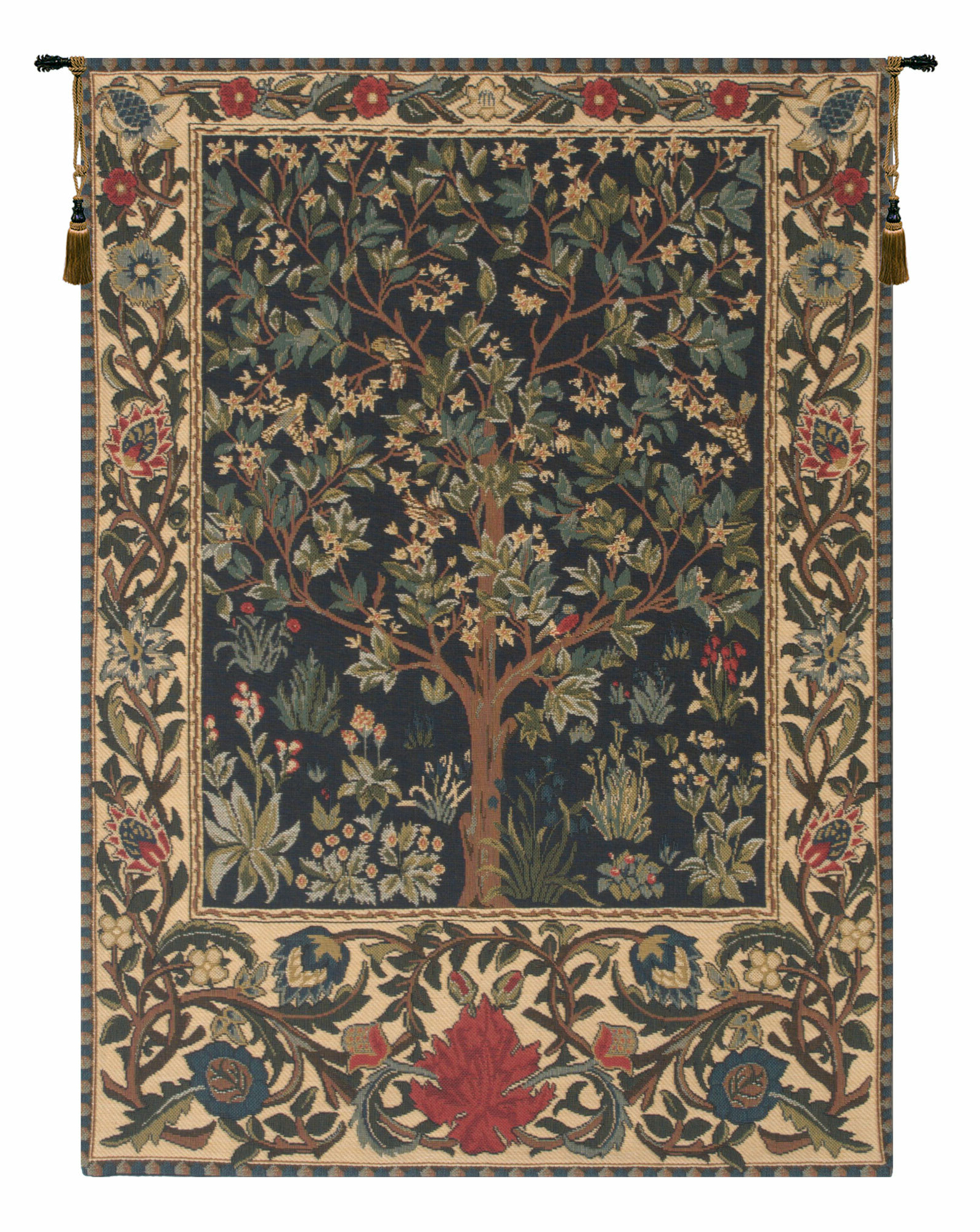 Tree Of Life I European Tapestry Wall Hanging Throughout Popular Blended Fabric Classic French Rococo Woven Tapestries (View 10 of 20)
