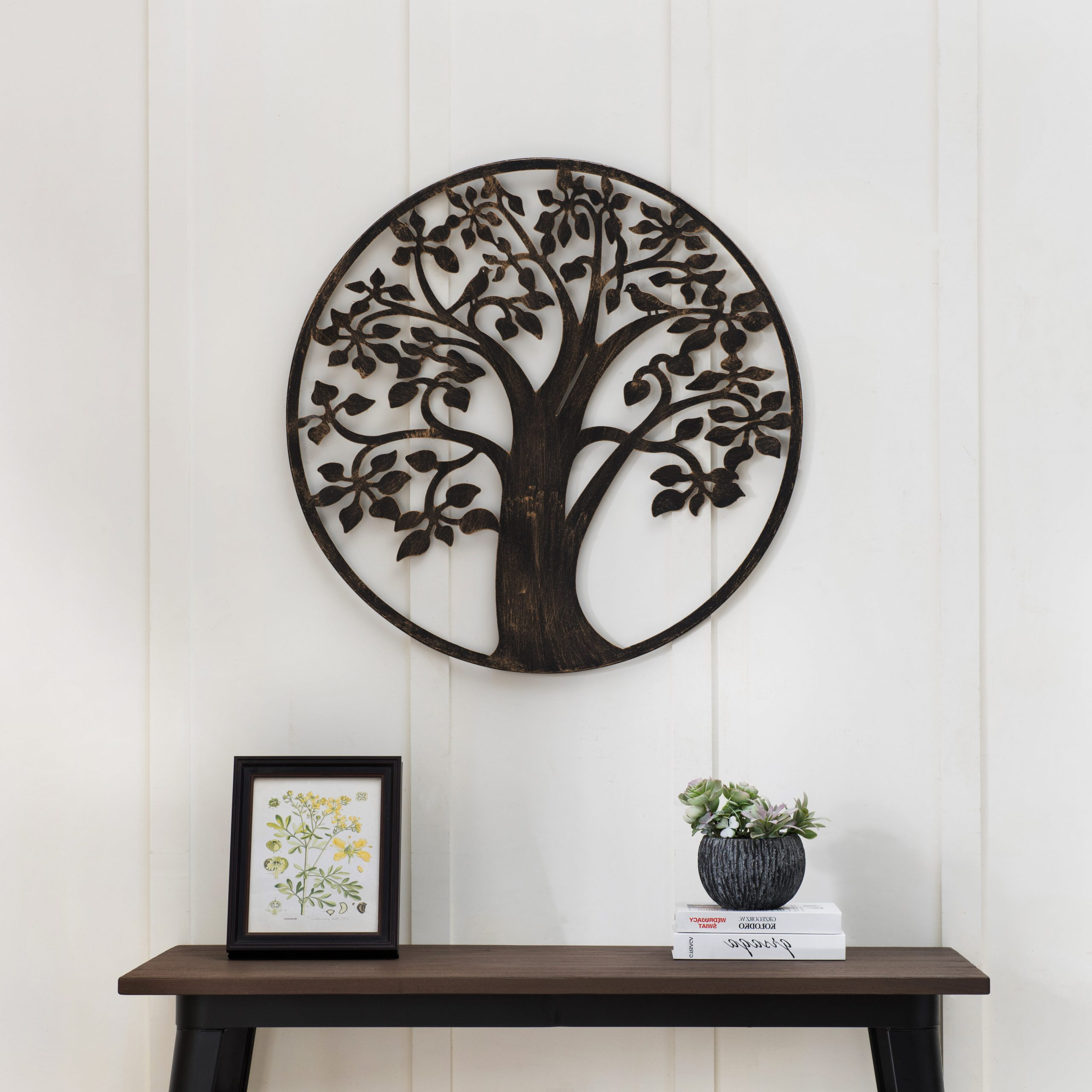 Tree Wall Décor Pertaining To Widely Used Olive/gray Metal Wall Decor By Brayden Studio (View 4 of 20)