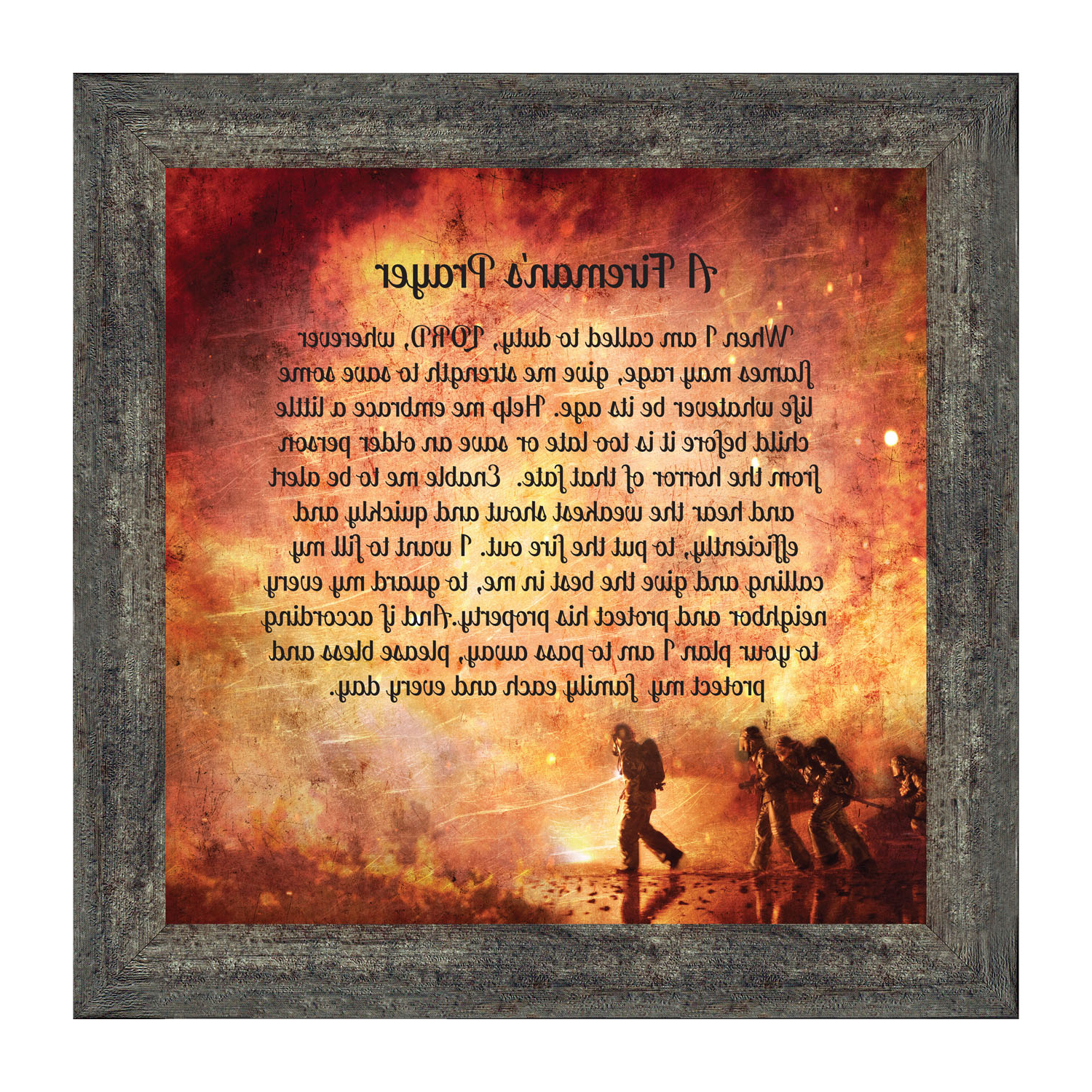 Trendy A Fireman Prayer Wall Hangings Intended For Firefighter Gifts For Men And Women, Fire Academy Graduation Gift, Fire Fighter Gifts Or Firehouse Decor, A Fireman's Prayer Framed Wall Art For Home (View 10 of 20)